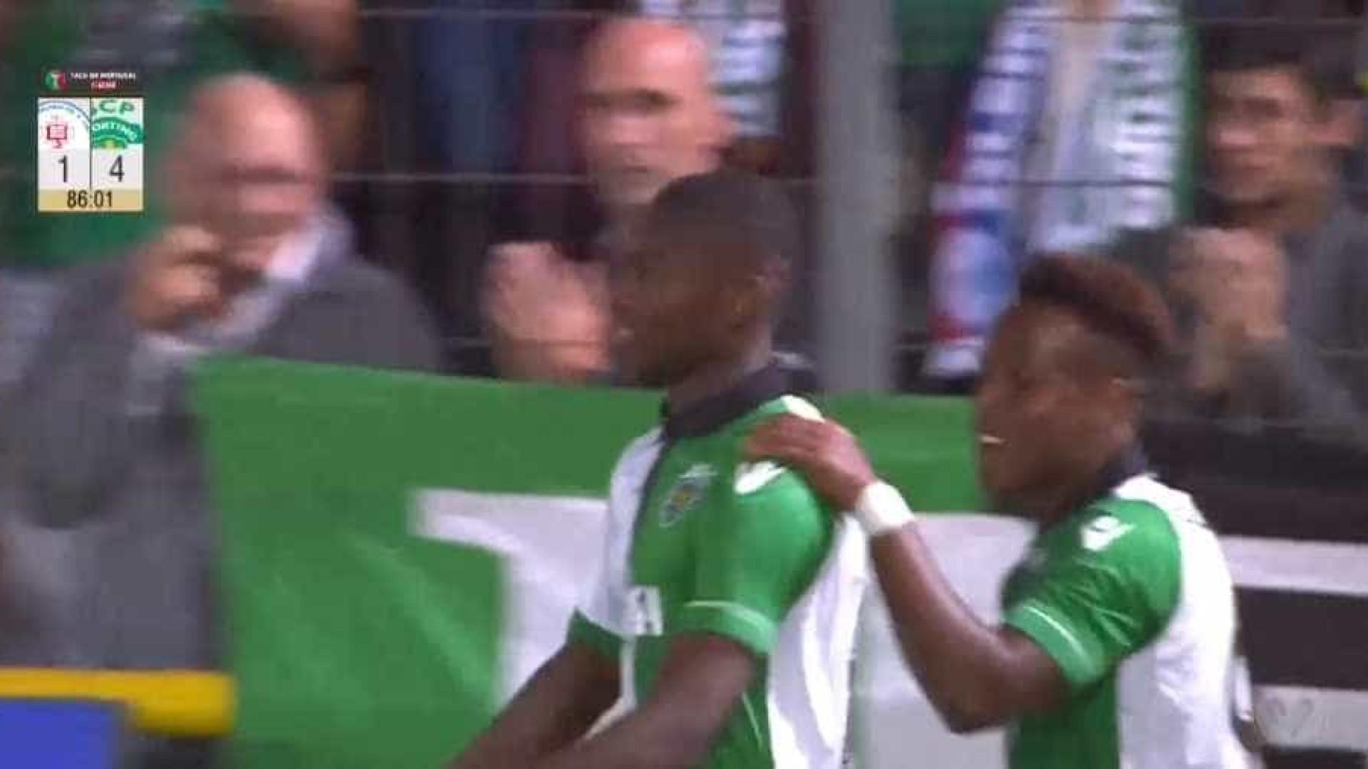 Rafael Leão com estreia de sonho pela equipa principal do Sporting