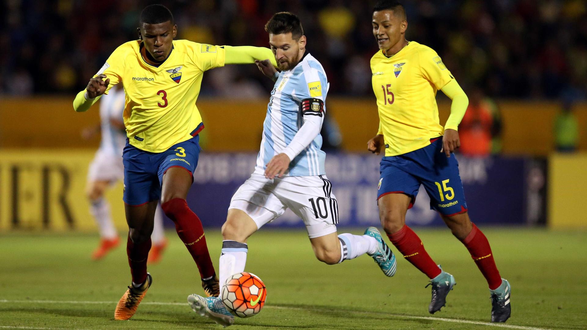 """Cinco Jogadores do Equador suspensos por """"indisciplina"""""""
