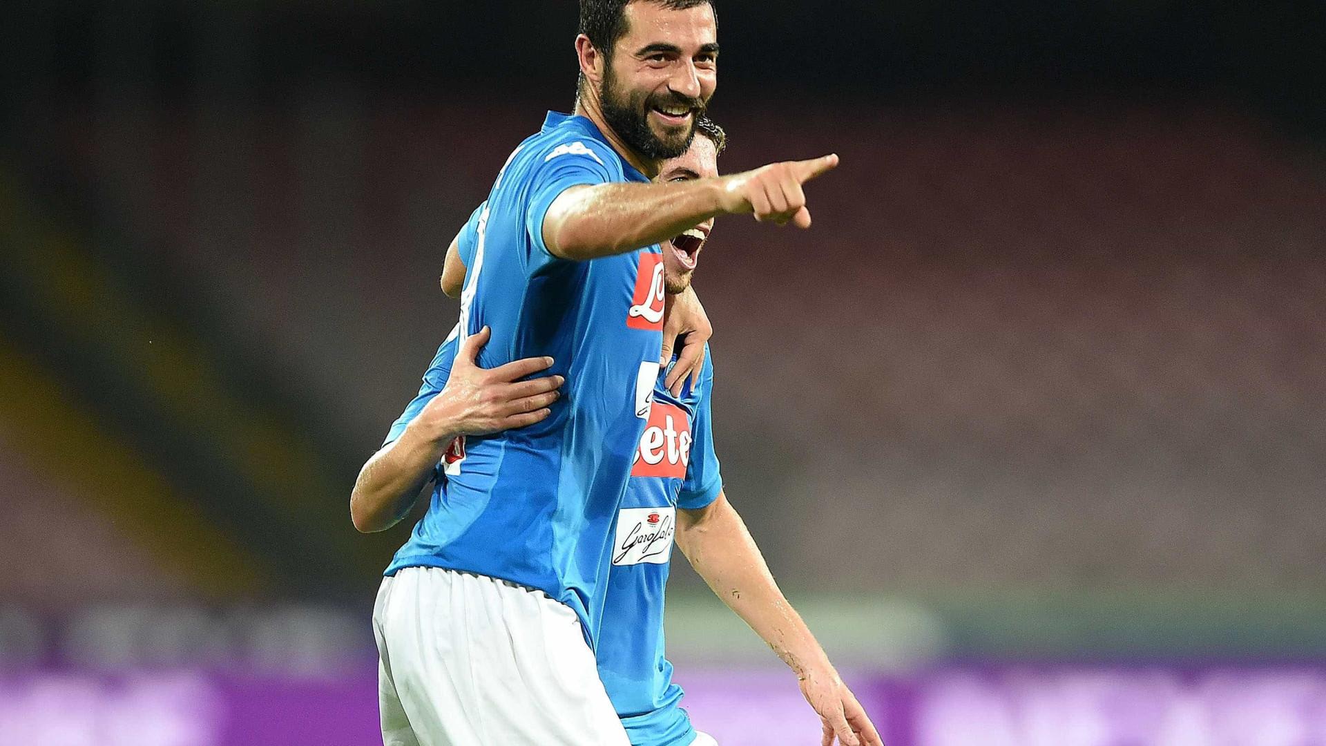 Sarri projeta Napoli 'corajoso' para bater Manchester City na Liga dos Campeões