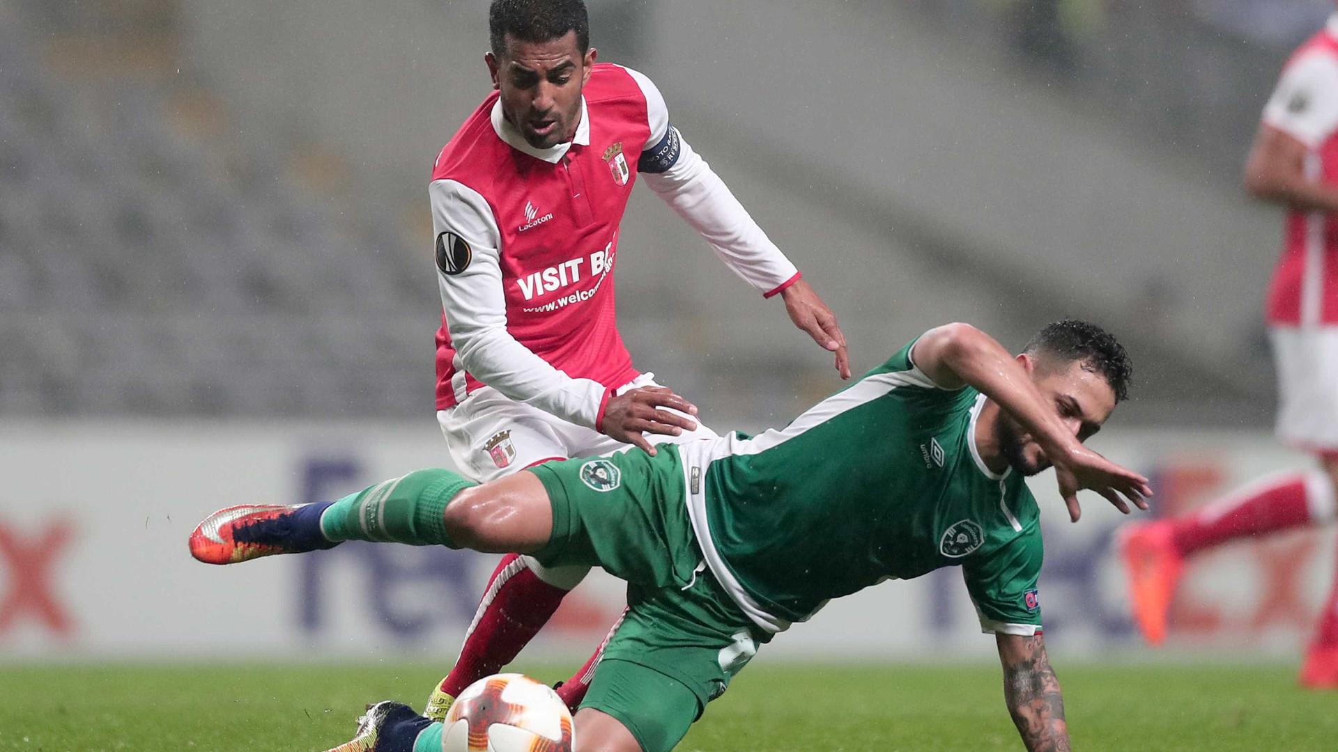LE: Sp. Braga-Ludogorets, 0-2 (resultado final)