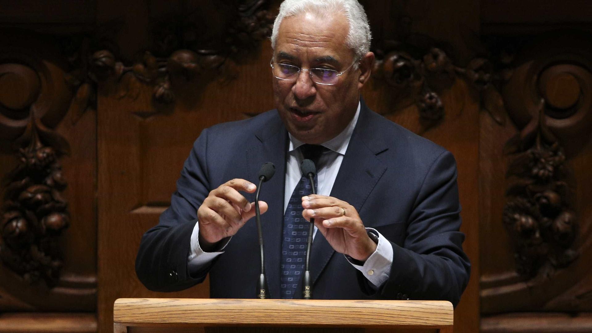 """Costa escolheu """"políticas económicas e sociais"""" para o debate quinzenal"""