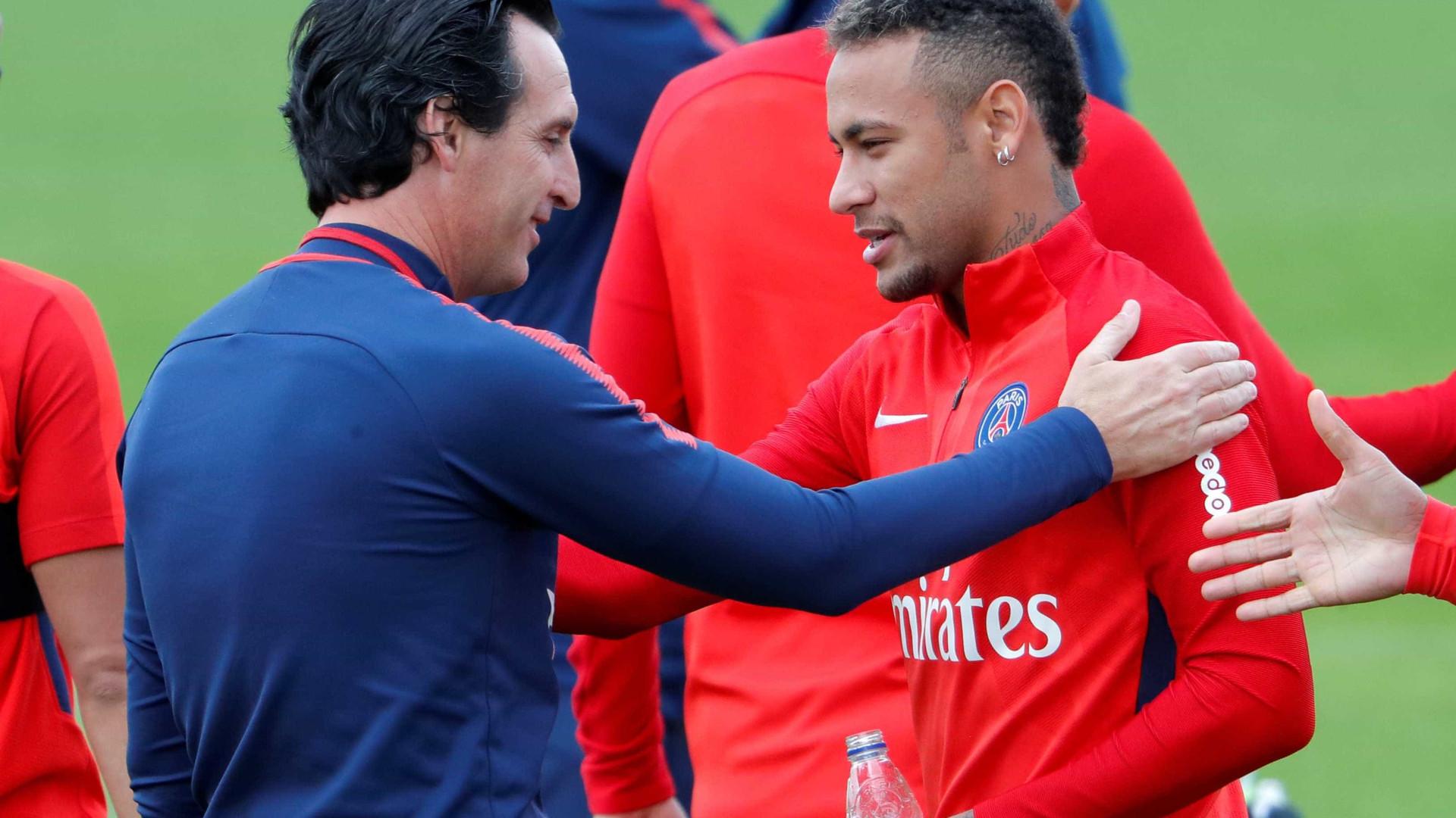 Futuro de Neymar passa pelo PSG, assegura Unai Emery
