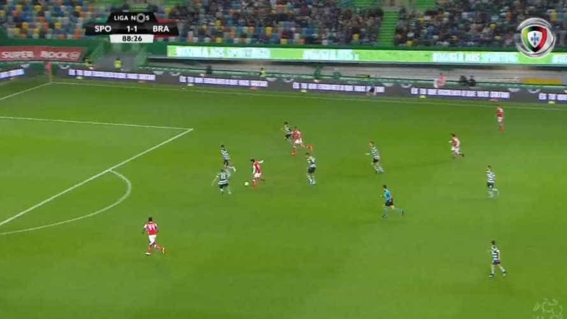 Sporting arranca empate ao Braga no último minuto (2-2)
