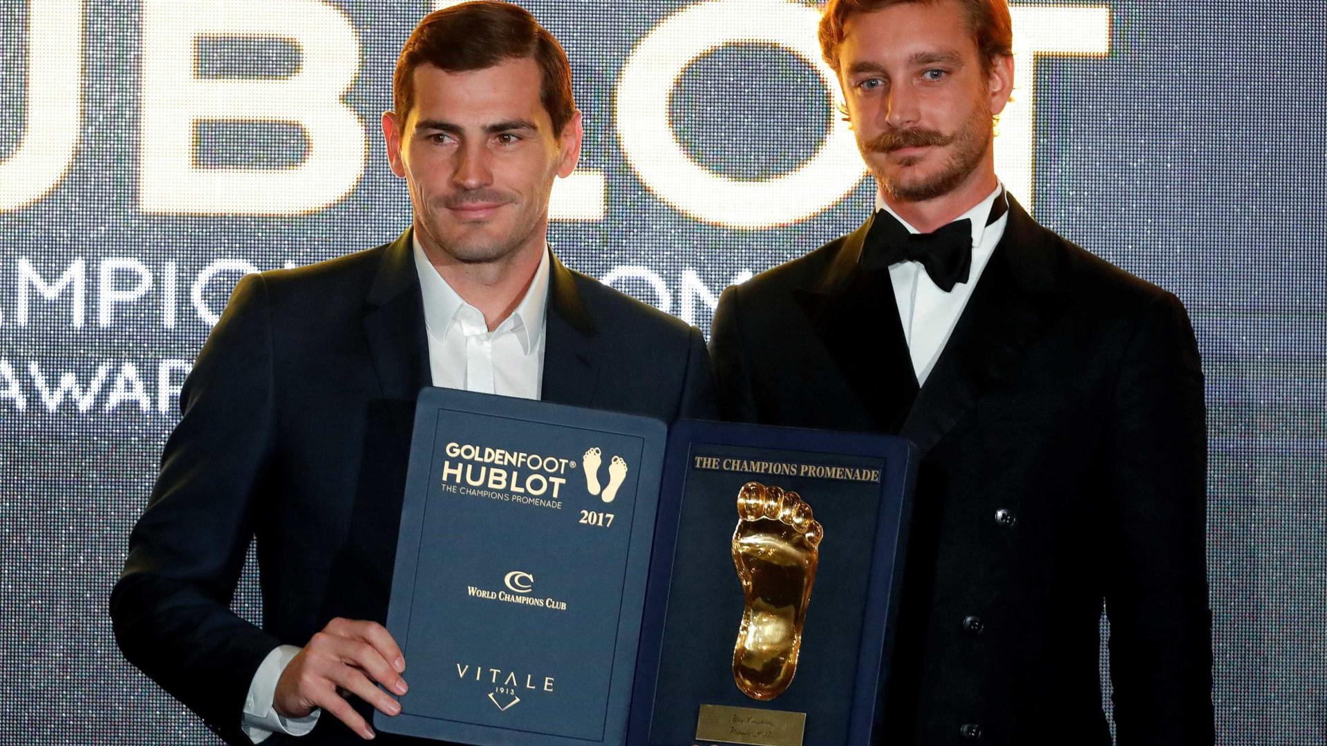 Pedro Proença elogia Iker Casillas pelo prémio Golden Foot
