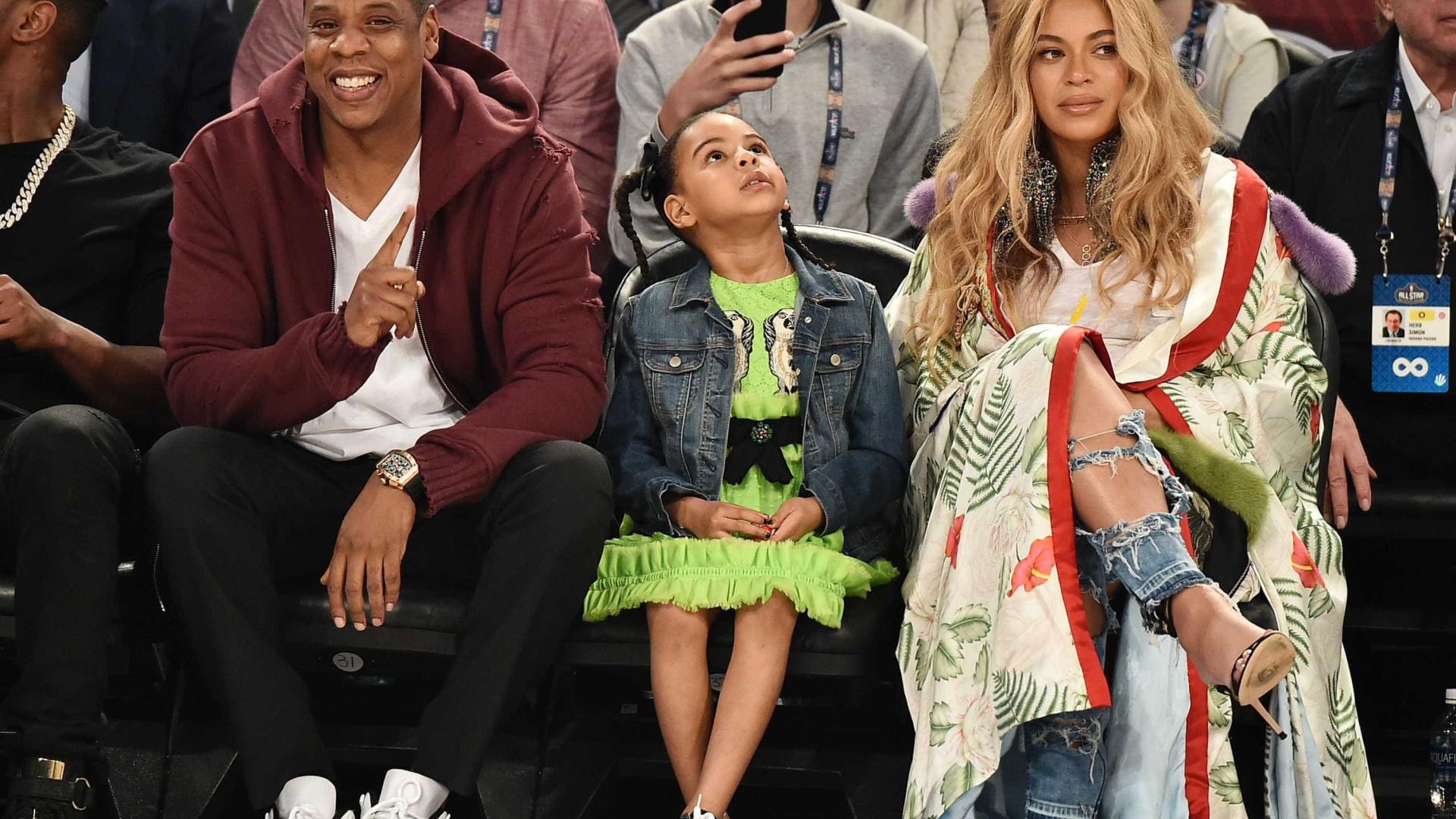 Reveladas imagens exclusivas dos gémeos de Beyoncé