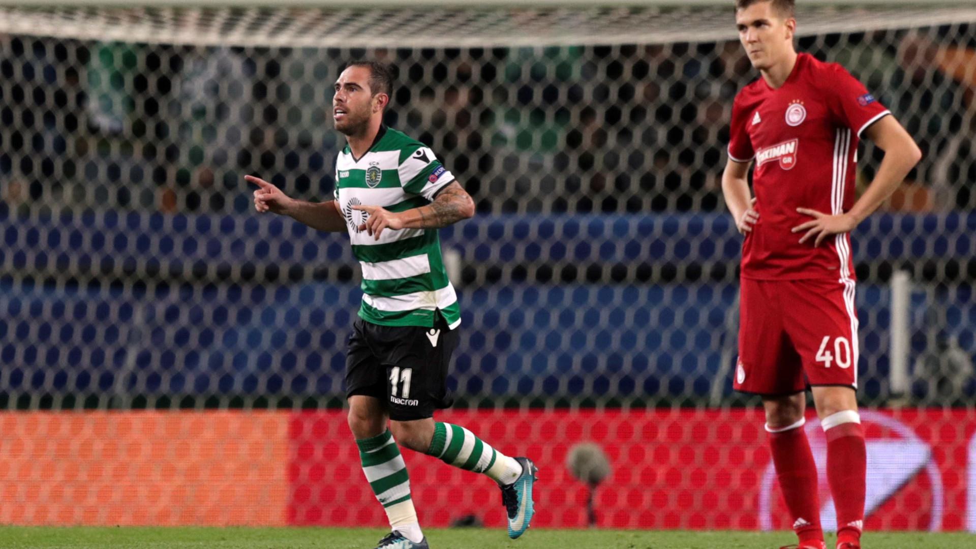 Champions: Bruno César no pódio dos marcadores na história do Sporting