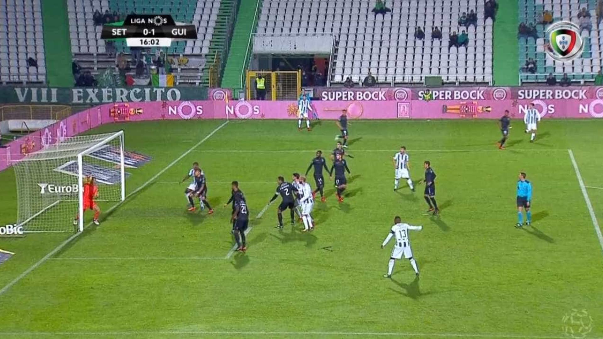 Resultado final: Vitória de Setúbal-Vitória de Guimarães, 1-2