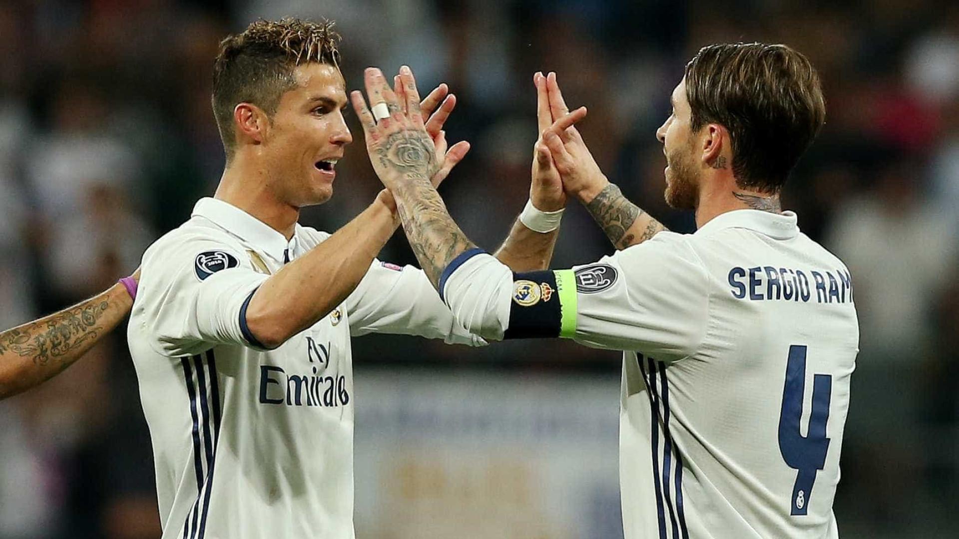 A mensagem de despedida de Sergio Ramos para Ronaldo