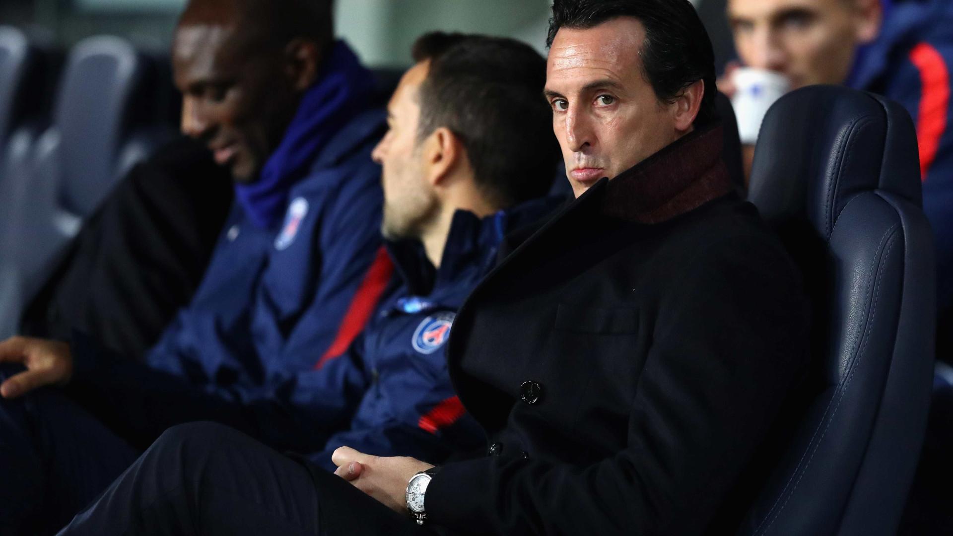 Emery com a corda no pescoço: PSG estuda nomes para o cargo
