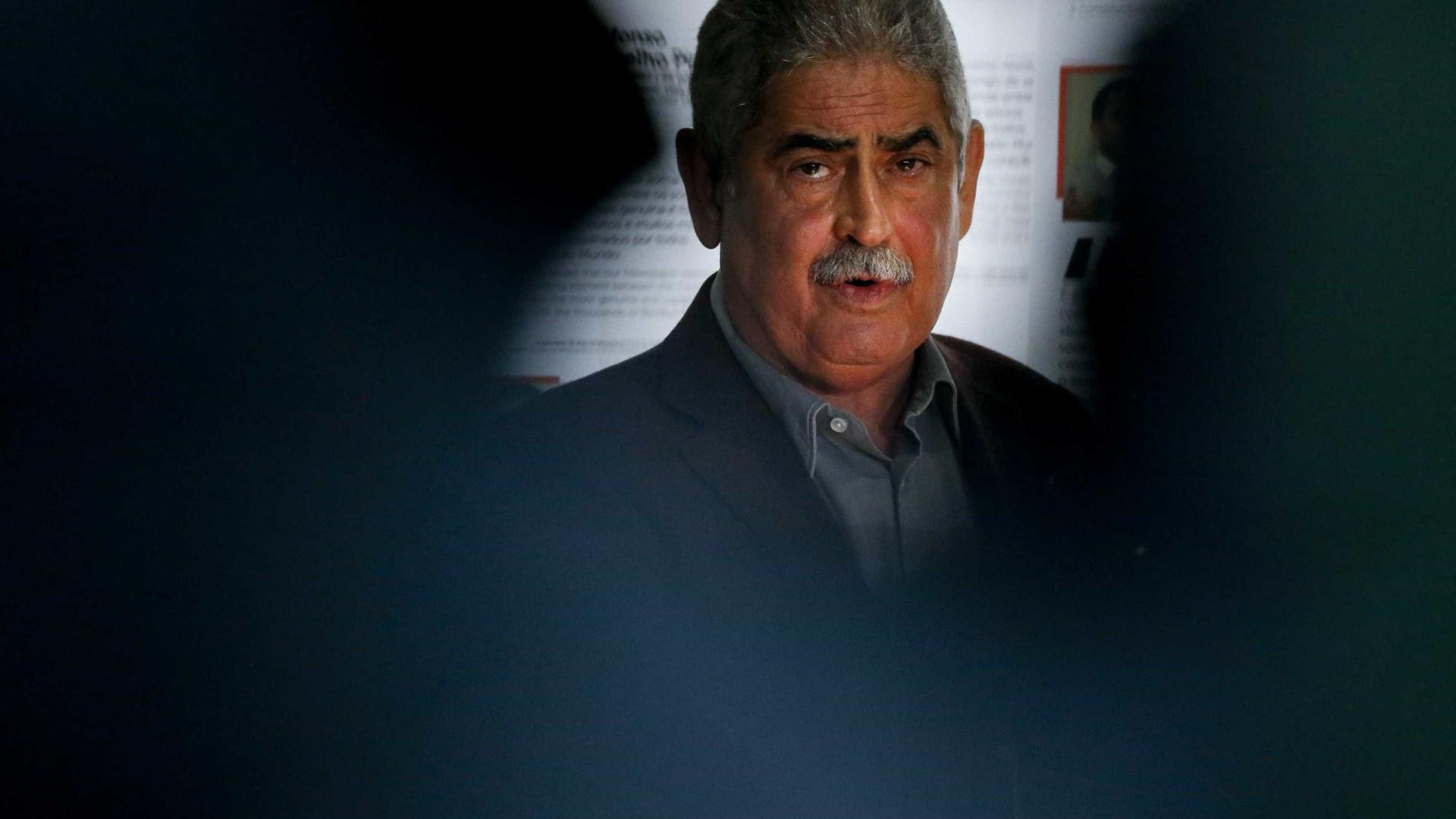 Luís Filipe Vieira está a ser ouvido como testemunha no DIAP