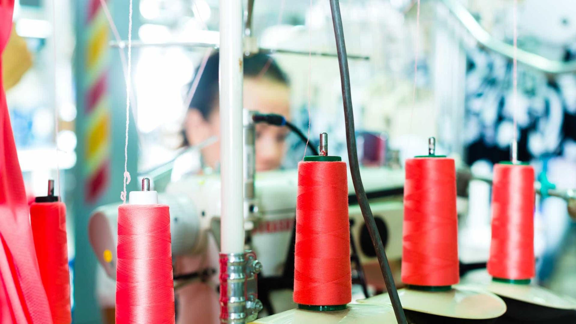 Exportações do têxtil e vestuário aceleram para subida homóloga de 8,9%