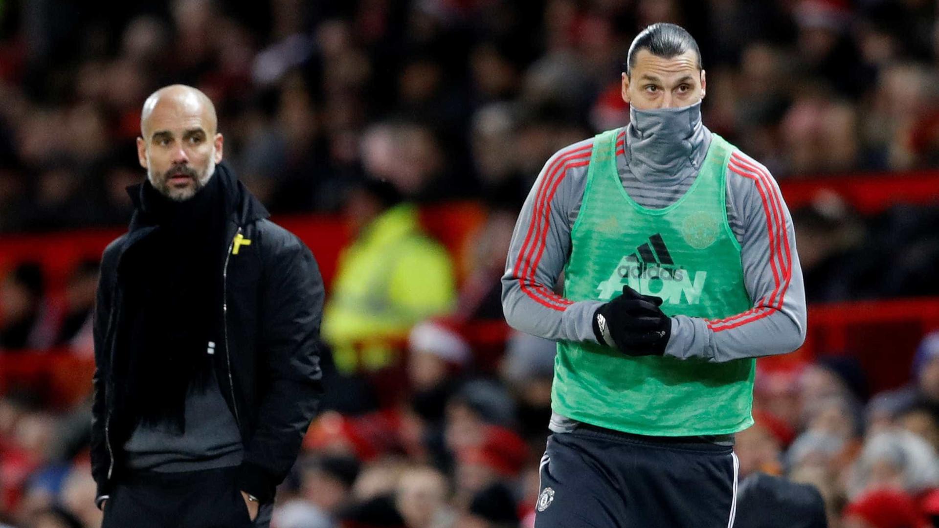 A 'boca' a Ibrahimovic que provocou o caos no túnel de Old Trafford