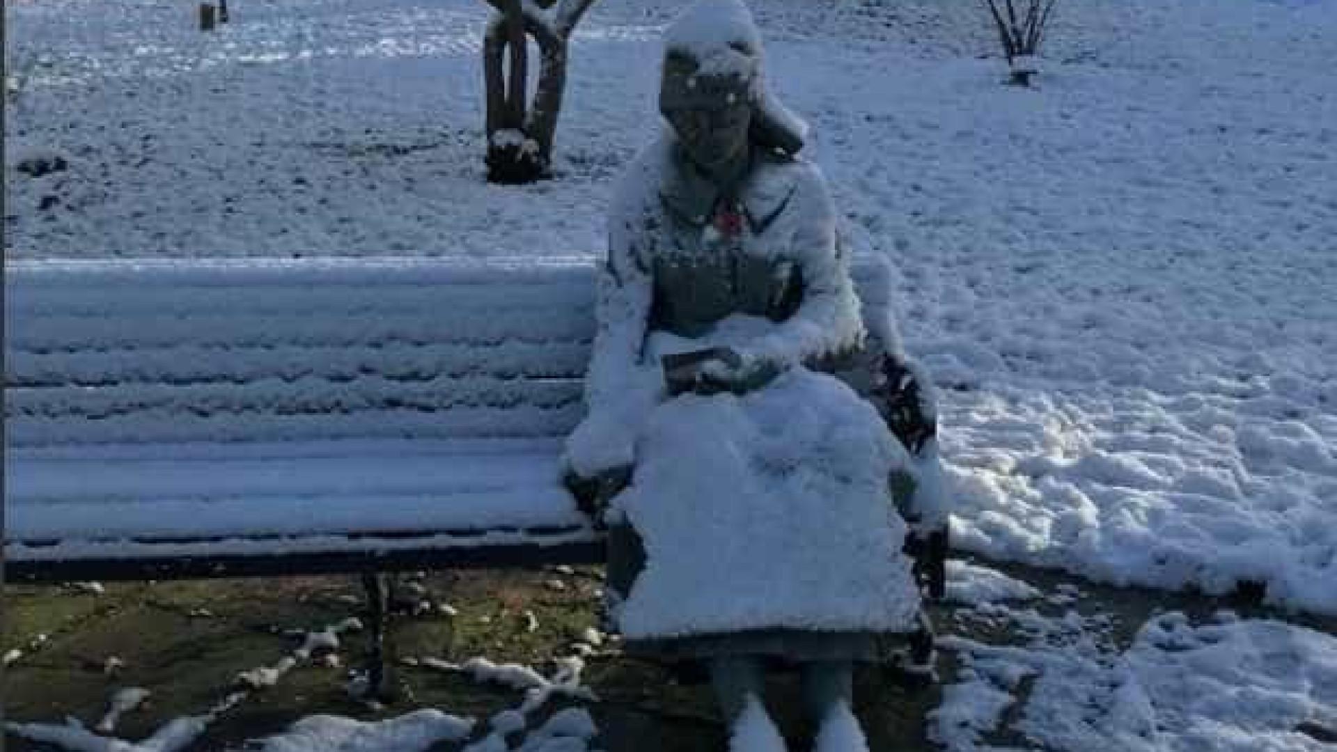 Iam socorrer uma pessoa congelada na neve. Mas não foi o que encontraram
