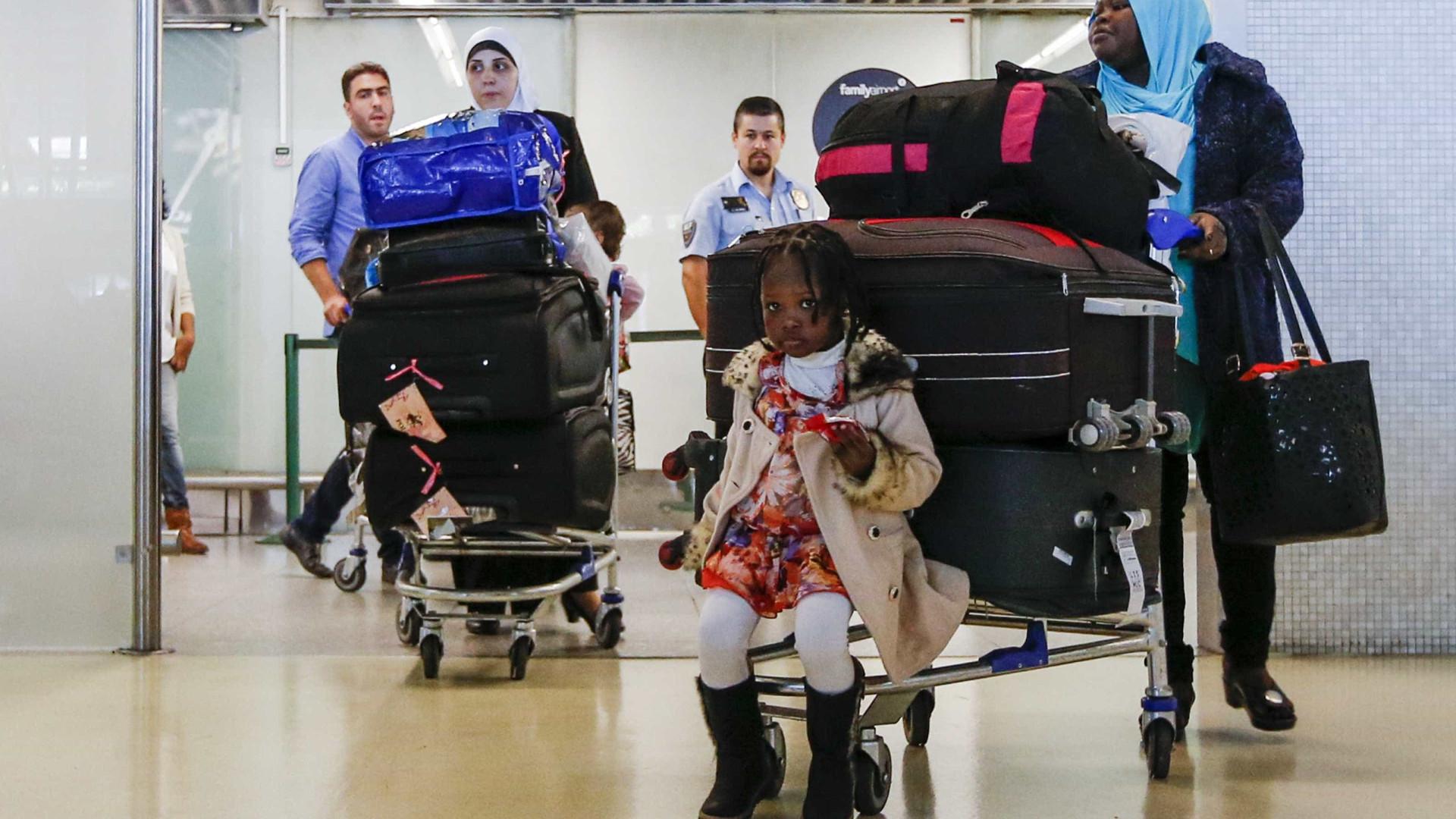 Portugal recebeu até maio 179 refugiados de programas de reinstalação