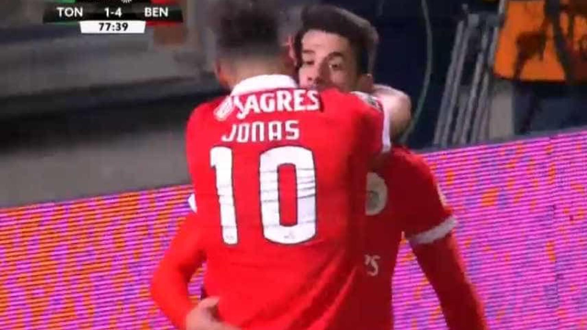 Jonas bisa e faz o quinto do Benfica em Tondela