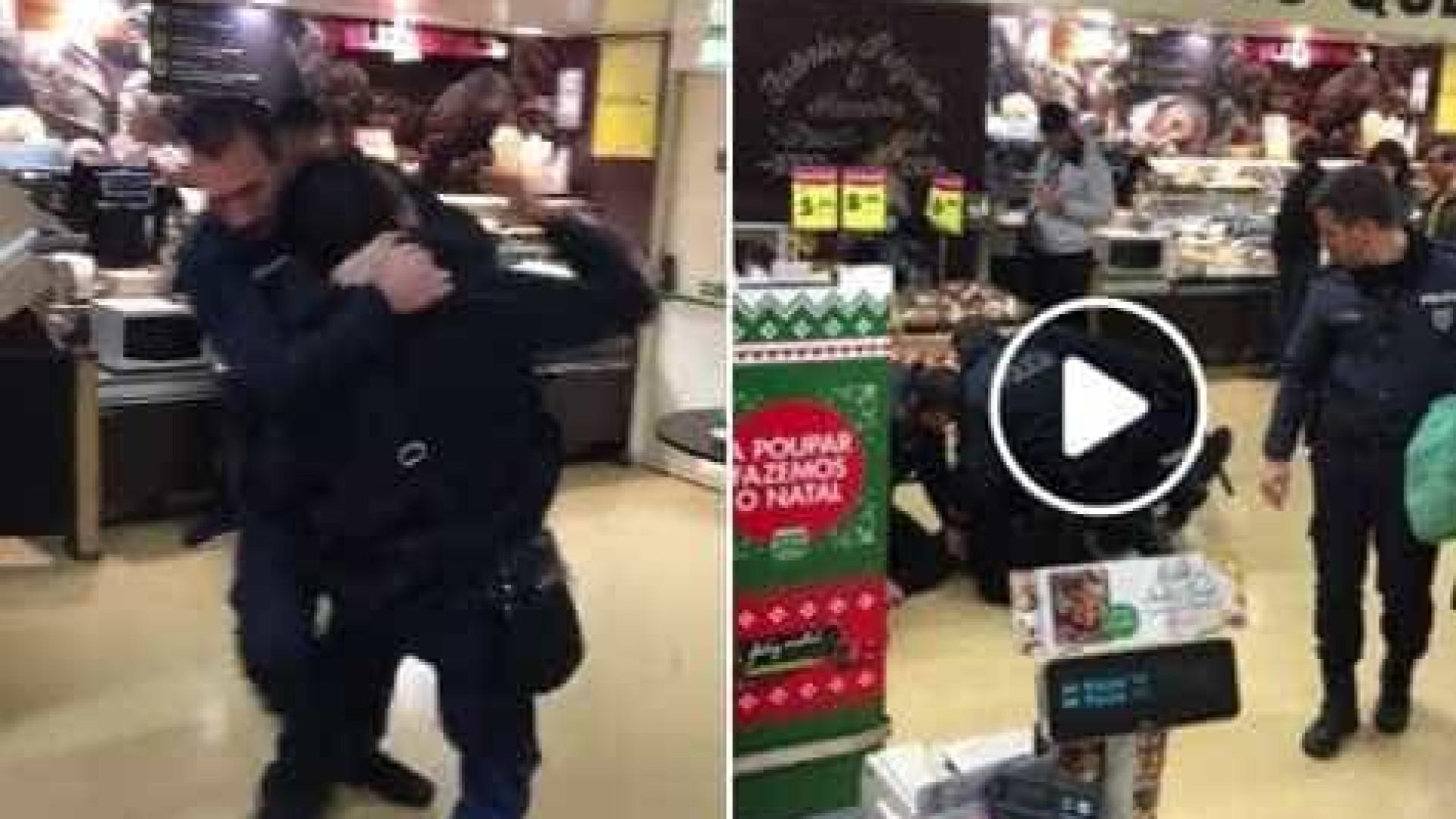 Pingo Doce averigua imagens de detenção violenta divulgadas no Facebook | VÍDEO