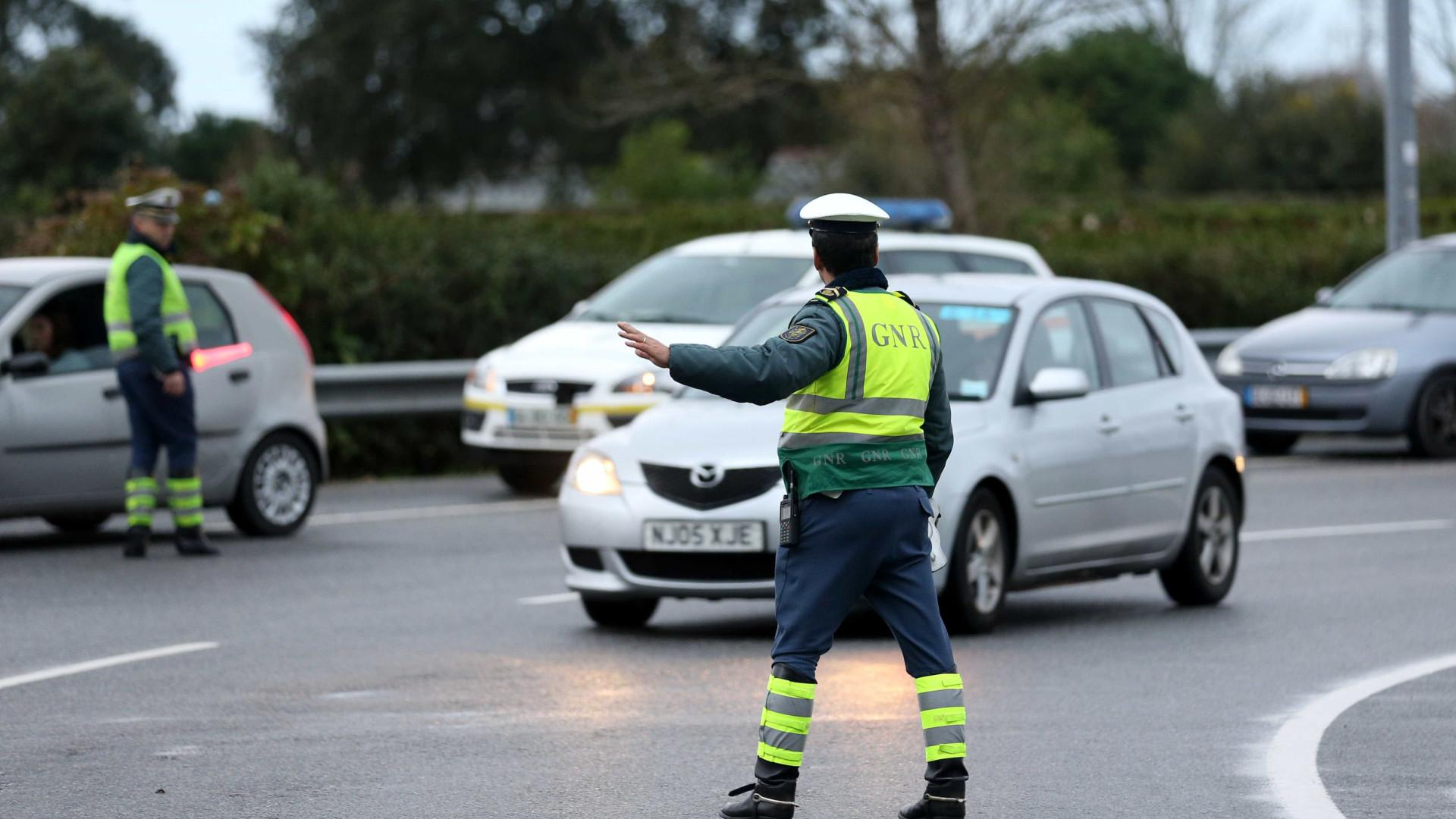 GNR detém 32 pessoas em operações de fiscalização rodoviária