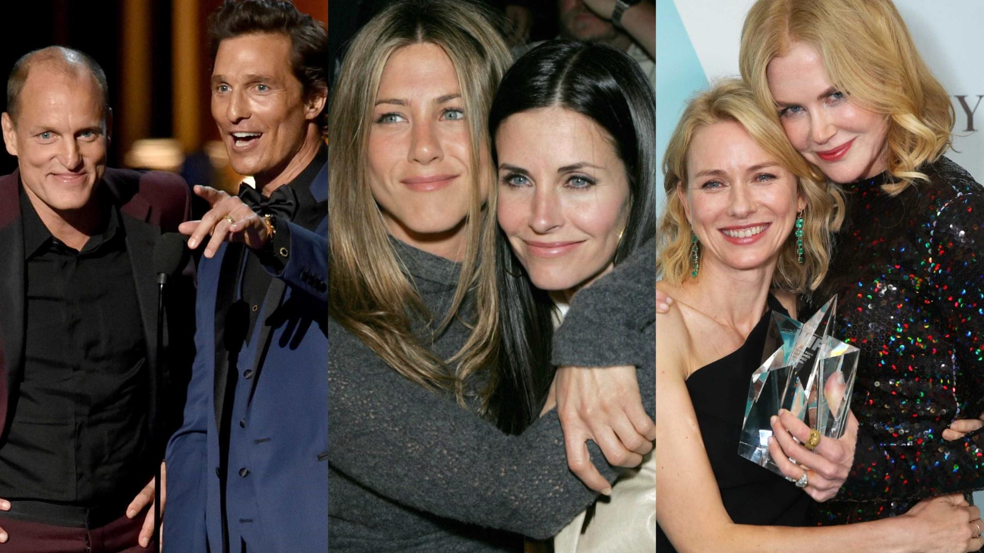 Quem são os melhores amigos em Hollywood?
