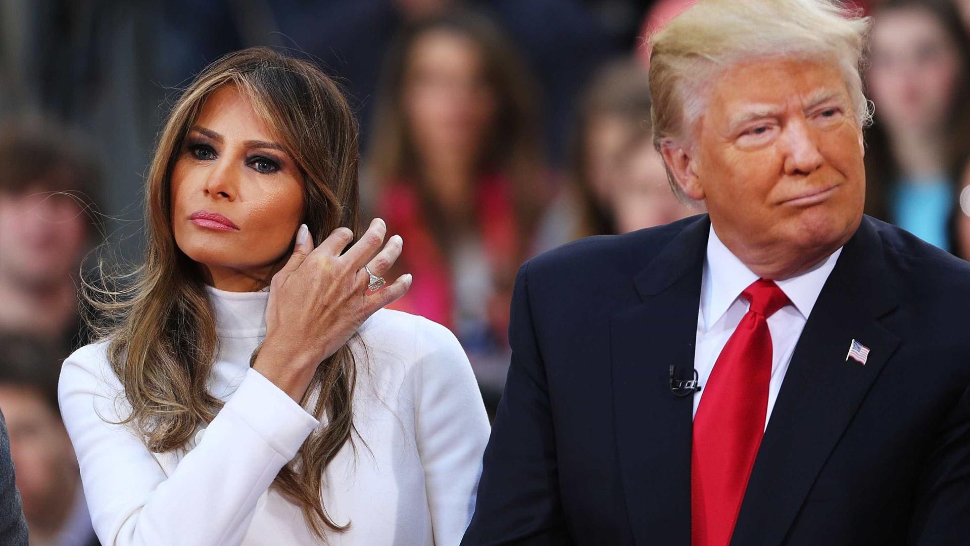 Trump queixa-se de 'fake news' sobre ele e Melania