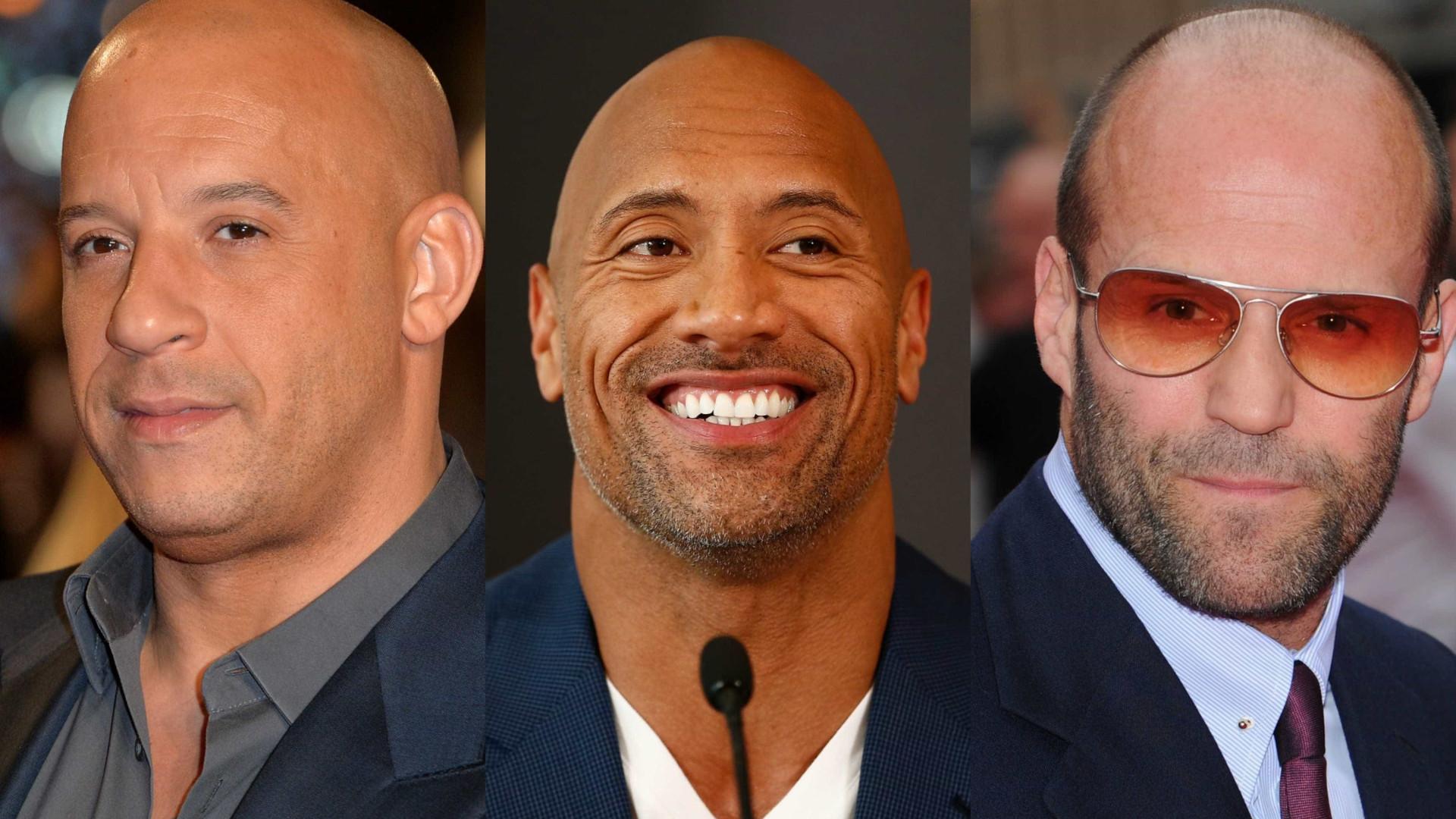 Quem são os carecas mais charmosos de Hollywood?