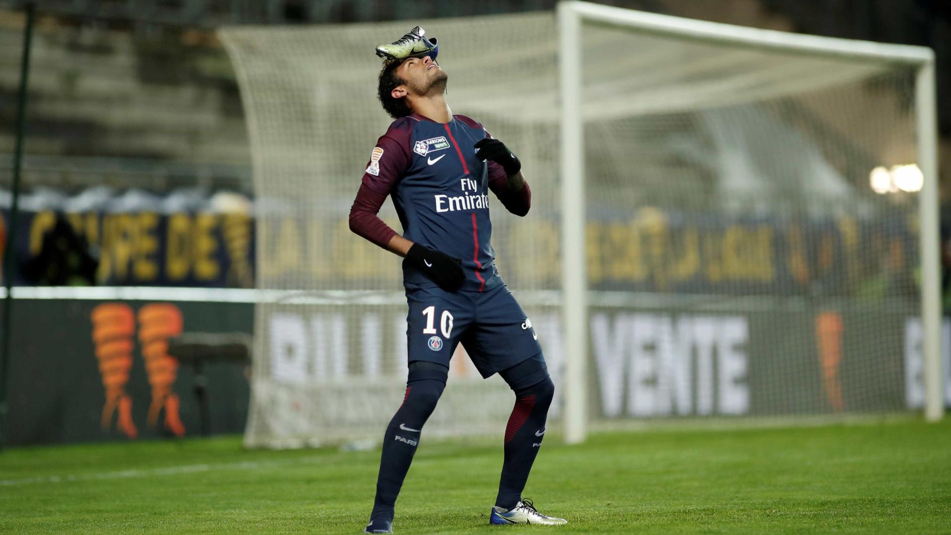 Festejo de Neymar já corre mundo. Eis a explicação