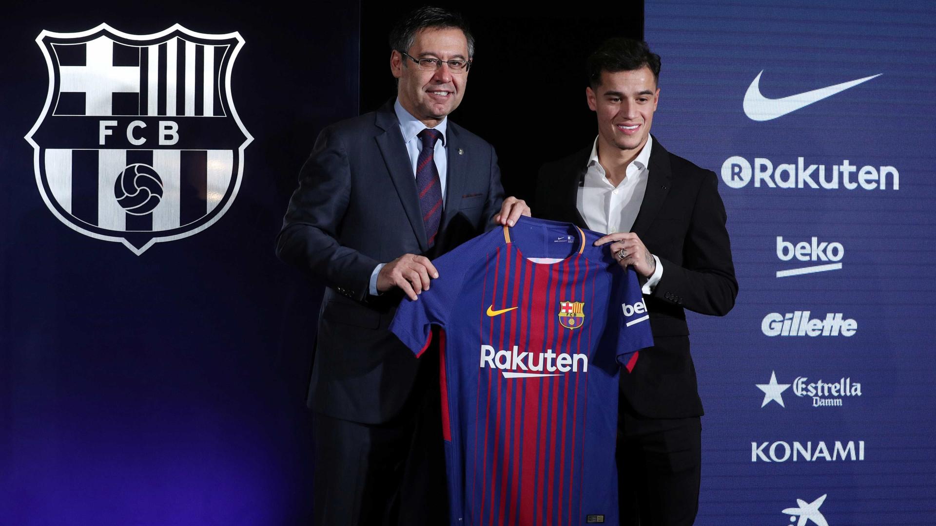 Coutinho já escolheu o número que vai usar no Barcelona