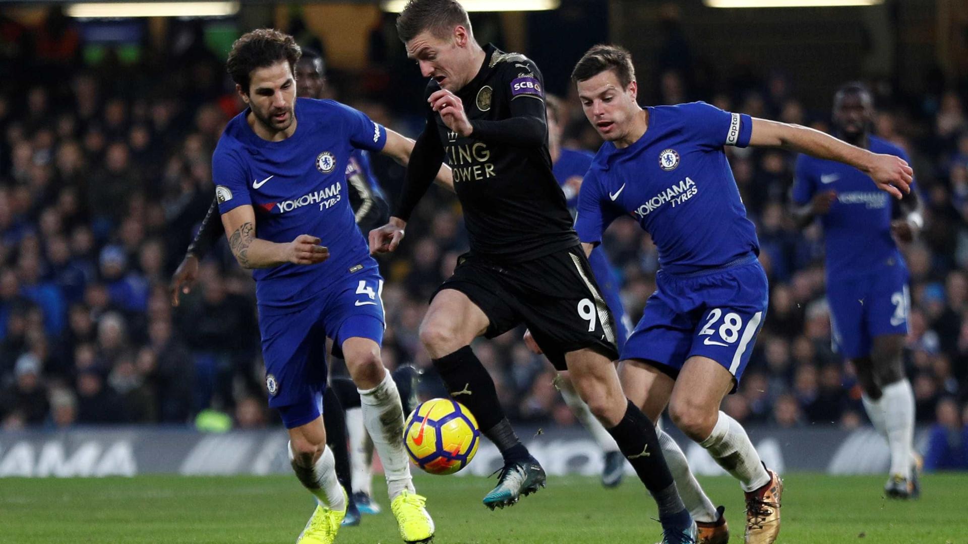 Leicester sem Adrien impõe quarto empate consecutivo ao Chelsea