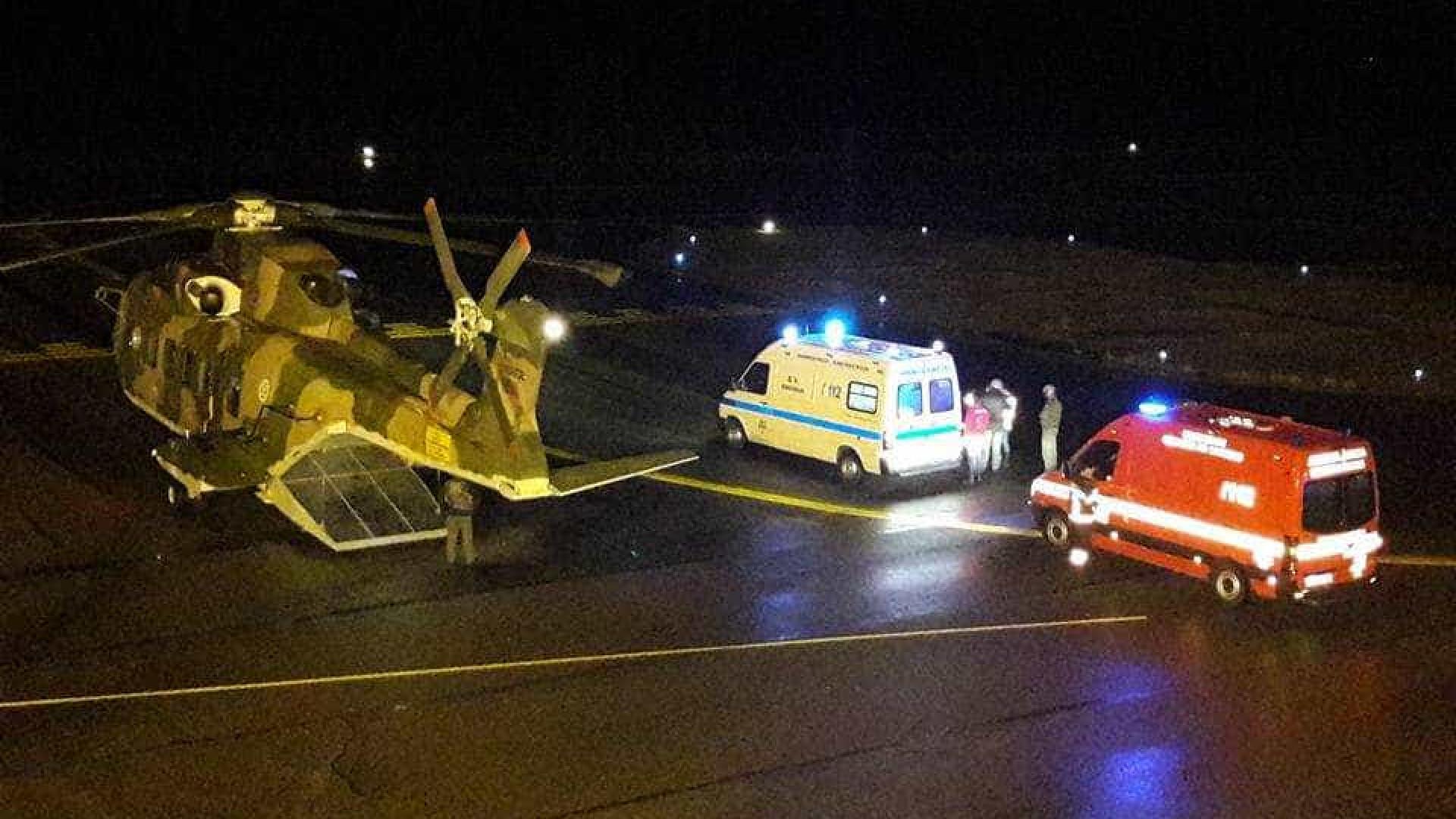 Os helicópteros da Força Aérea que saíram para ajudar em Tondela