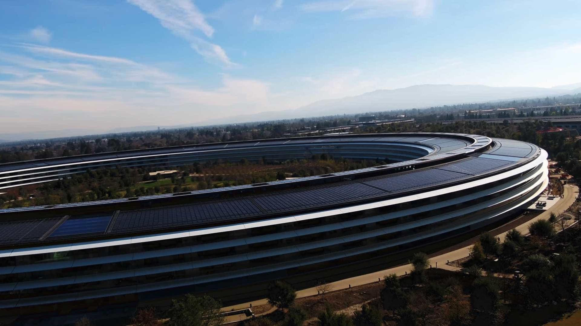 O verde está (lentamente) a tomar conta da nova 'casa' da Apple