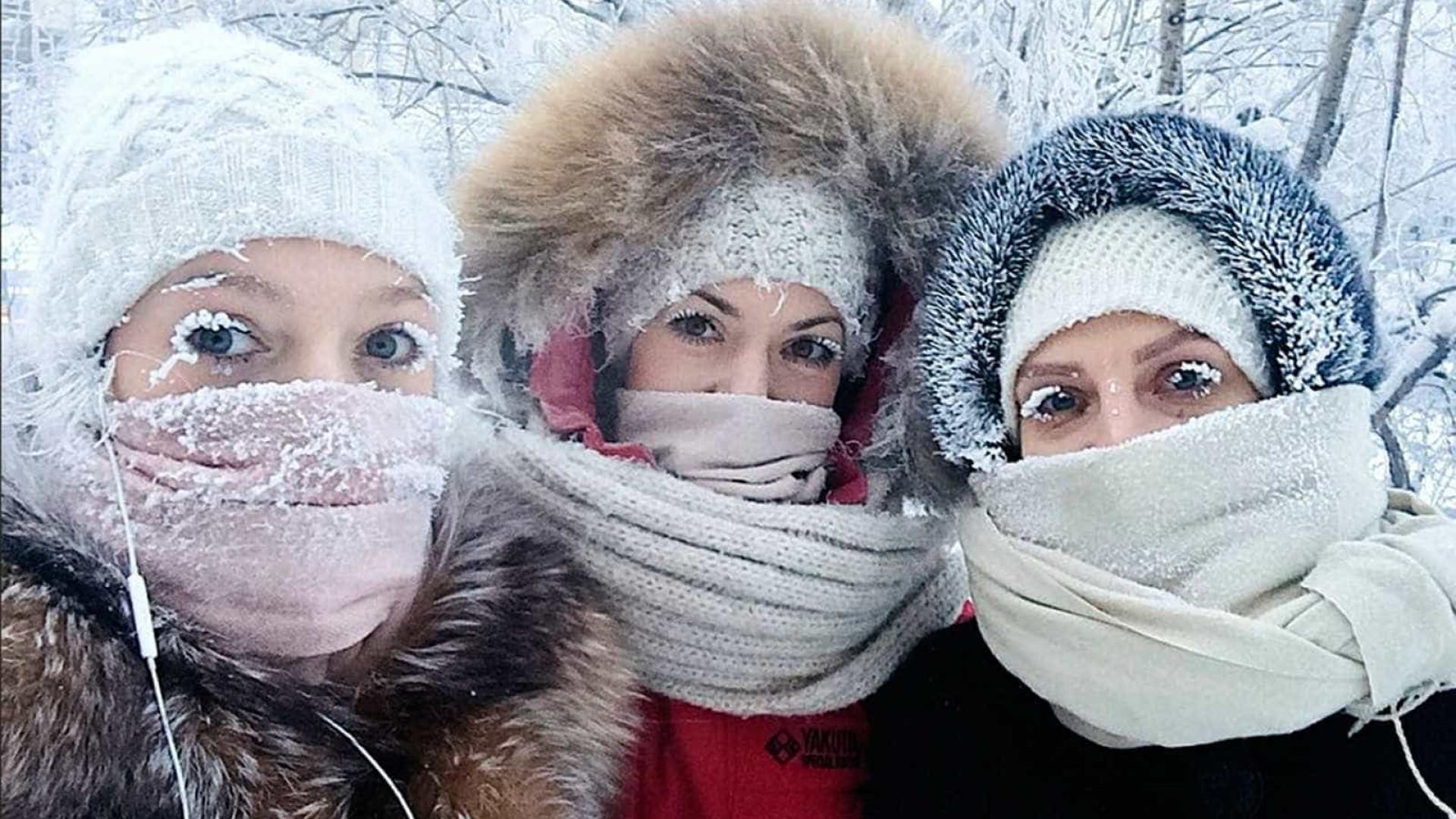 Temperatura na Rússia chega a - 67ºC. Veja imagens