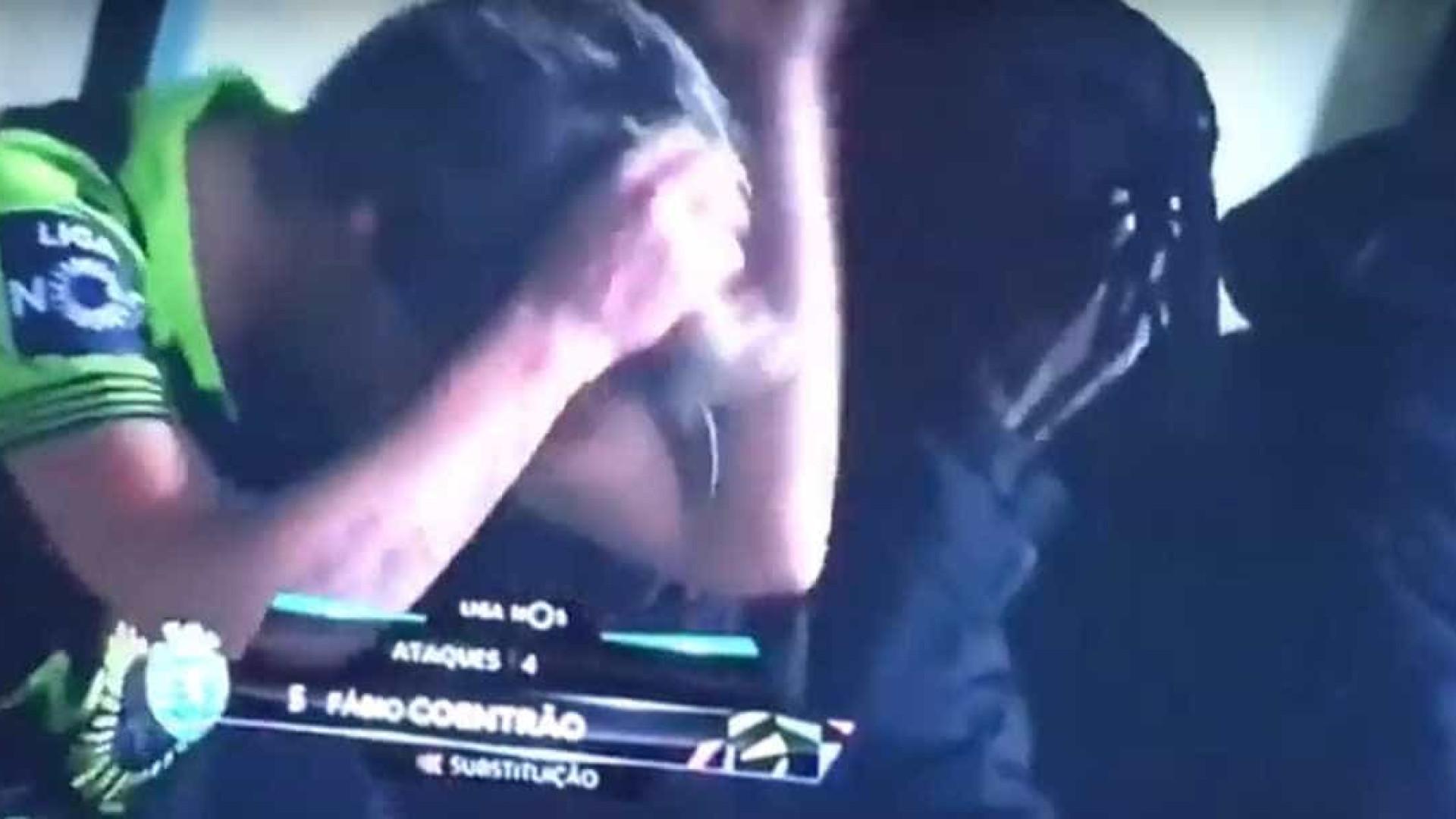 Final de partida de Coentrão terminou em sangue, suor e lágrimas