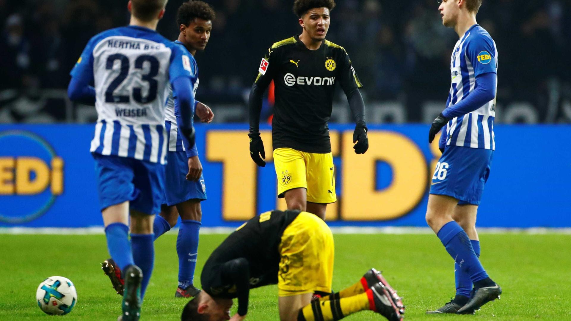Dortmund 'tropeça' em Berlim, mas sobe provisoriamente ao terceiro lugar