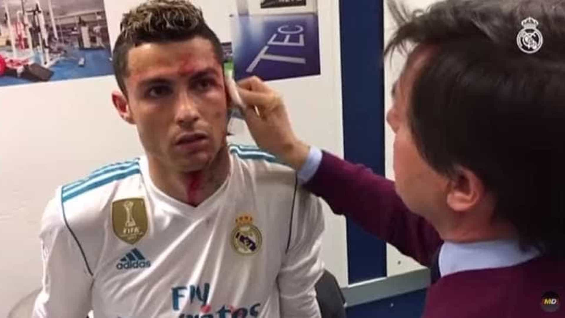 Real Madrid mostrou como CR7 foi tratado já no balneário
