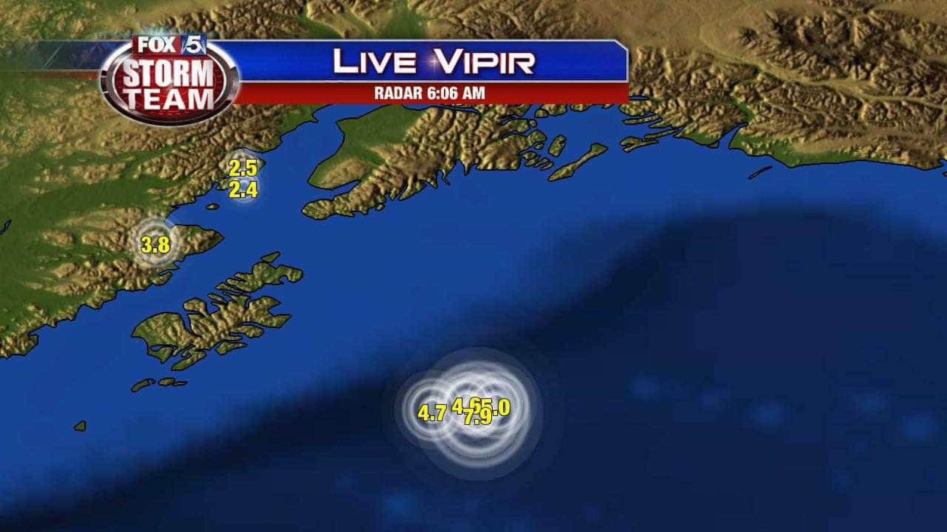 Alasca: Sismo de magnitude 8 foi seguido de quatro réplicas entre 4.6 e 5