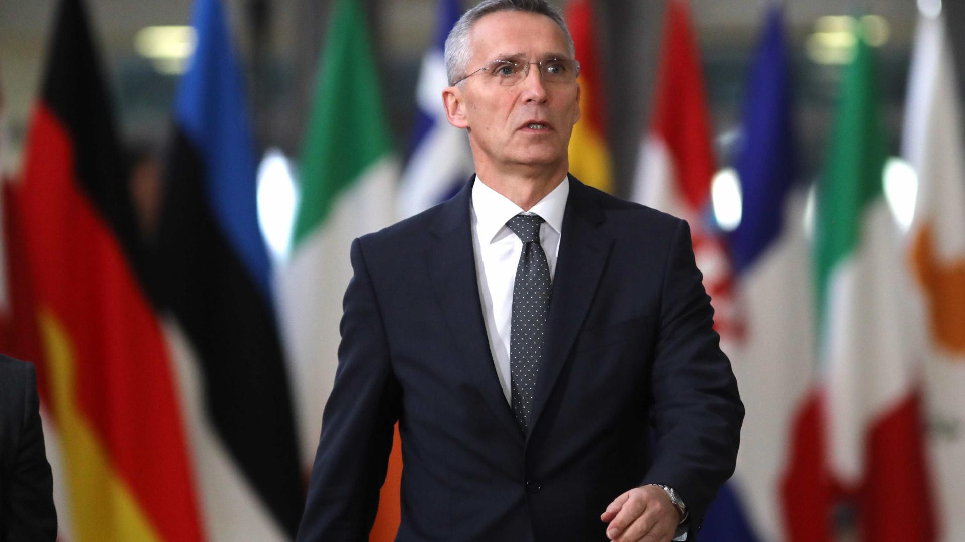 """Stoltenberg quer fortalecer a aliança atlântica """"para evitar o conflito"""""""