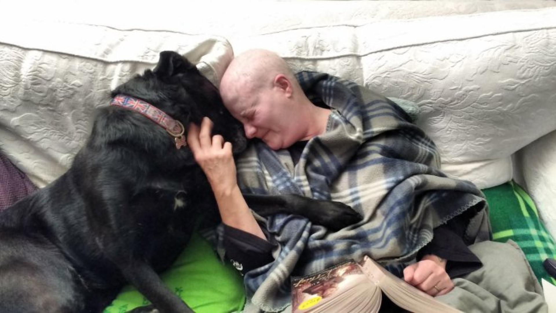 Dona e cadela diagnosticadas com cancro lutam juntas contra a doença