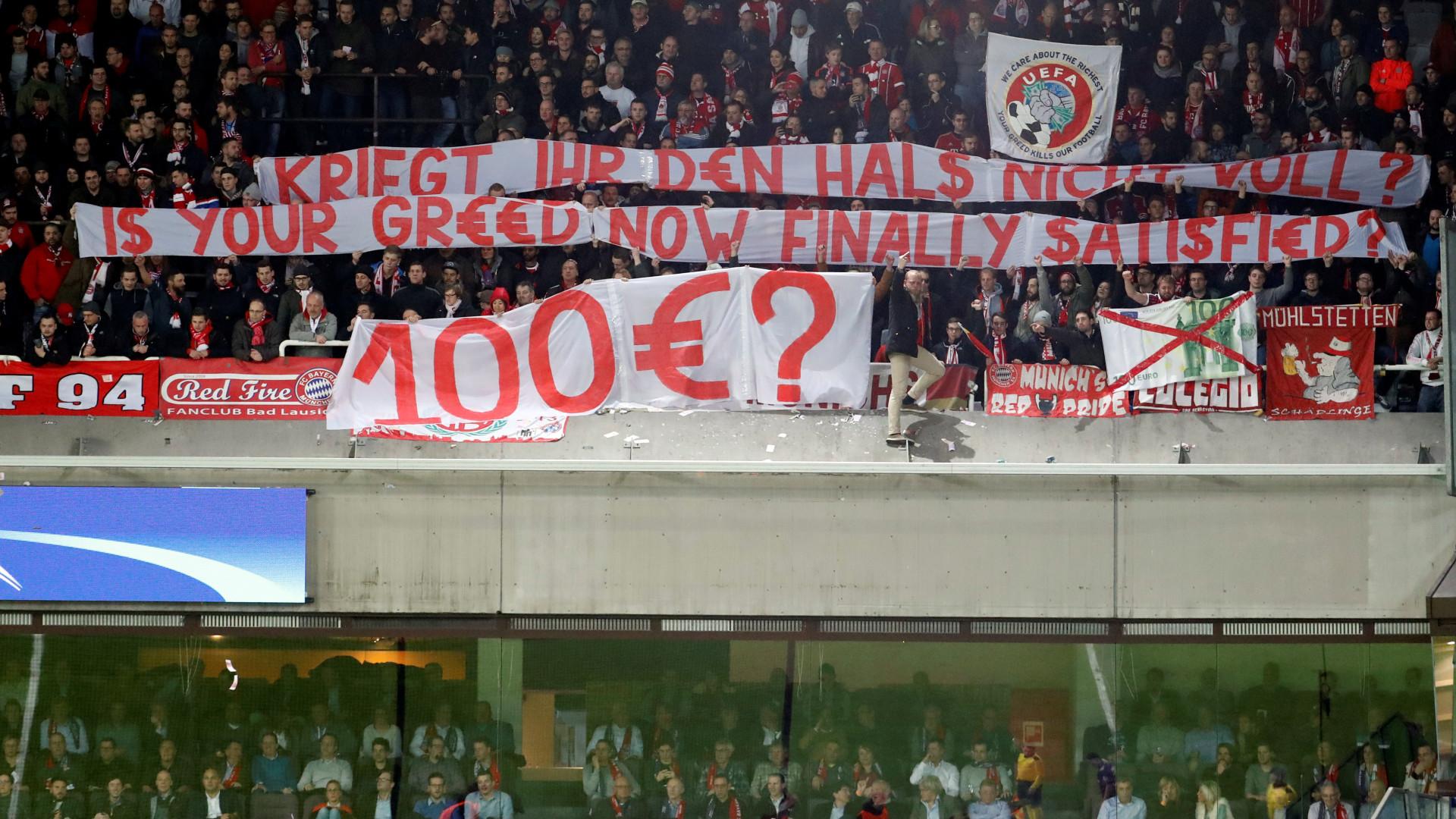 UEFA obriga o Anderlecht a reembolsar os adeptos do Bayern Munique