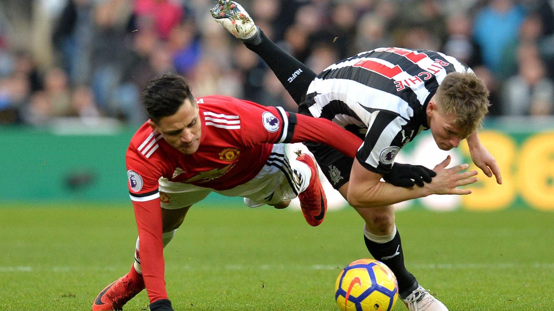 Manchester United derrotado em Newcastle