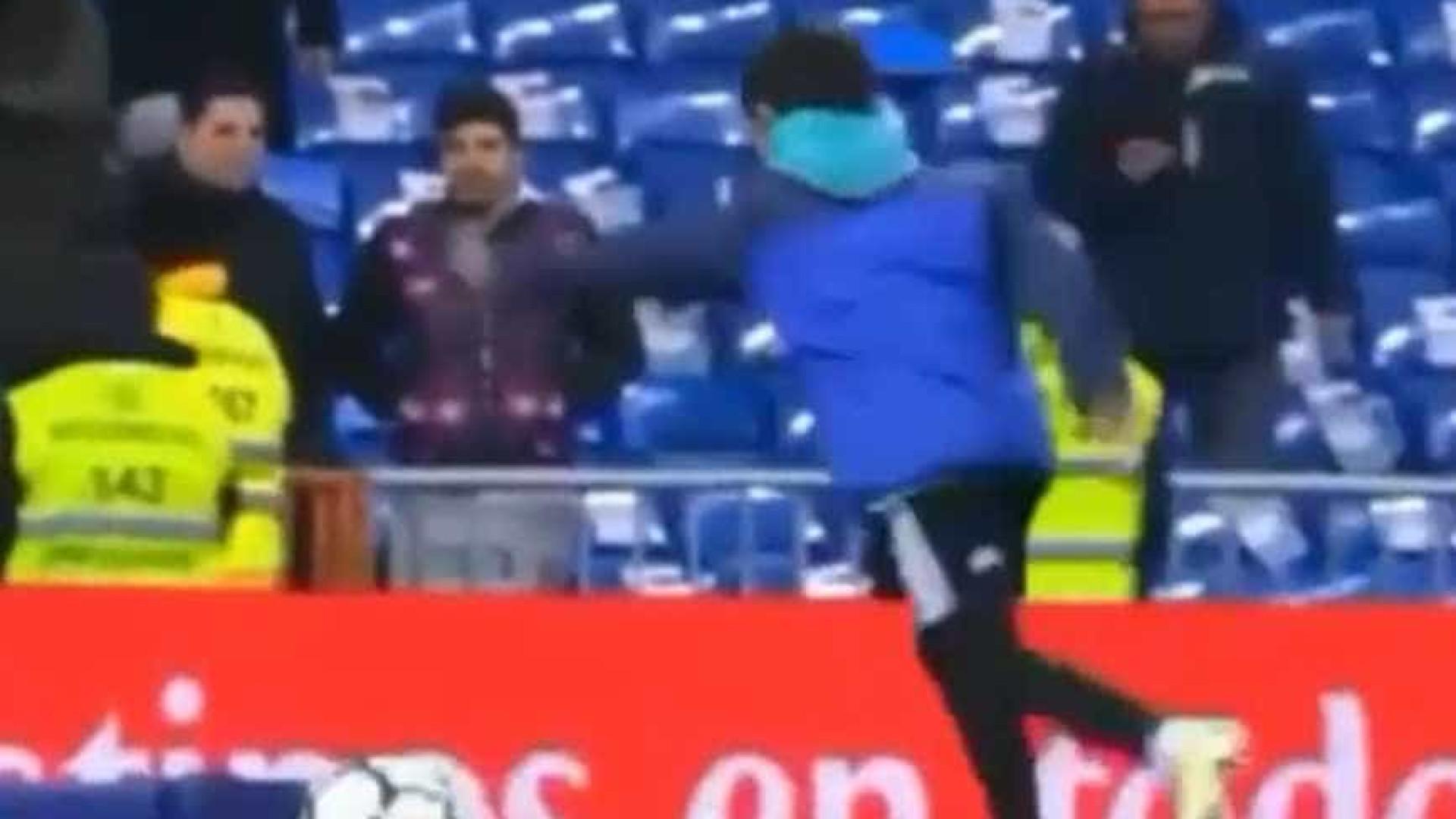 O toque não engana. Cristianinho mostrou toda a sua técnica no Bernabéu