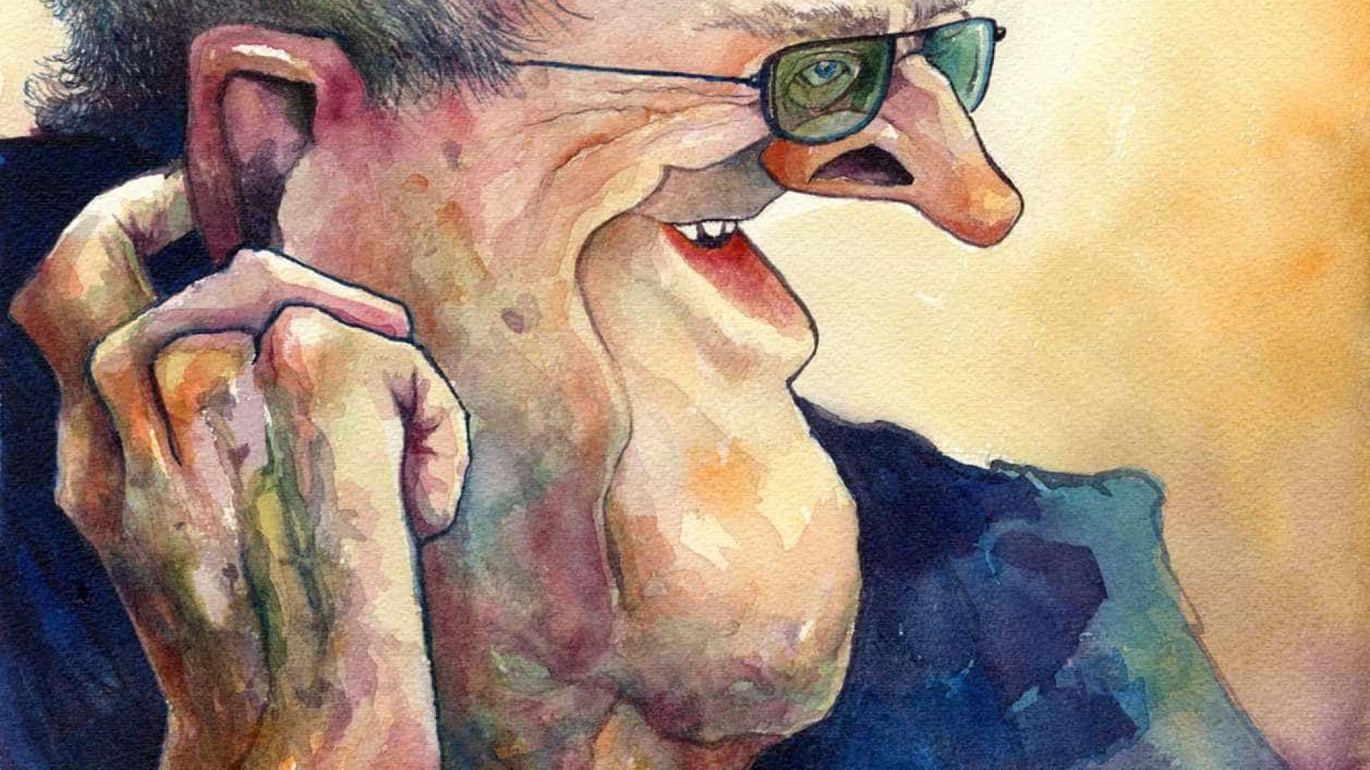 Caricaturas de Manoel de Oliveira em exposição a partir de sábado