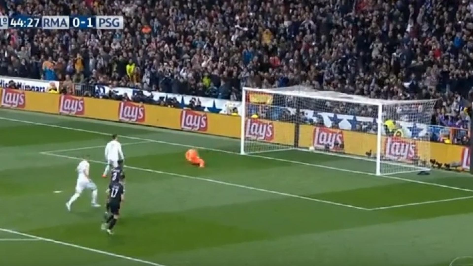Grande penalidade para Cristiano Ronaldo e o resultado foi este...