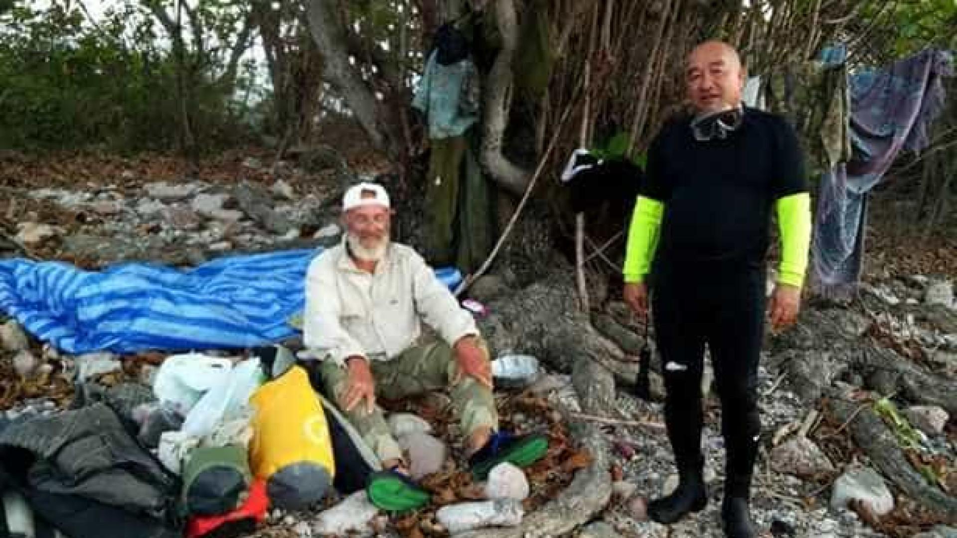 Homem dado como desaparecido encontrado em ilha deserta