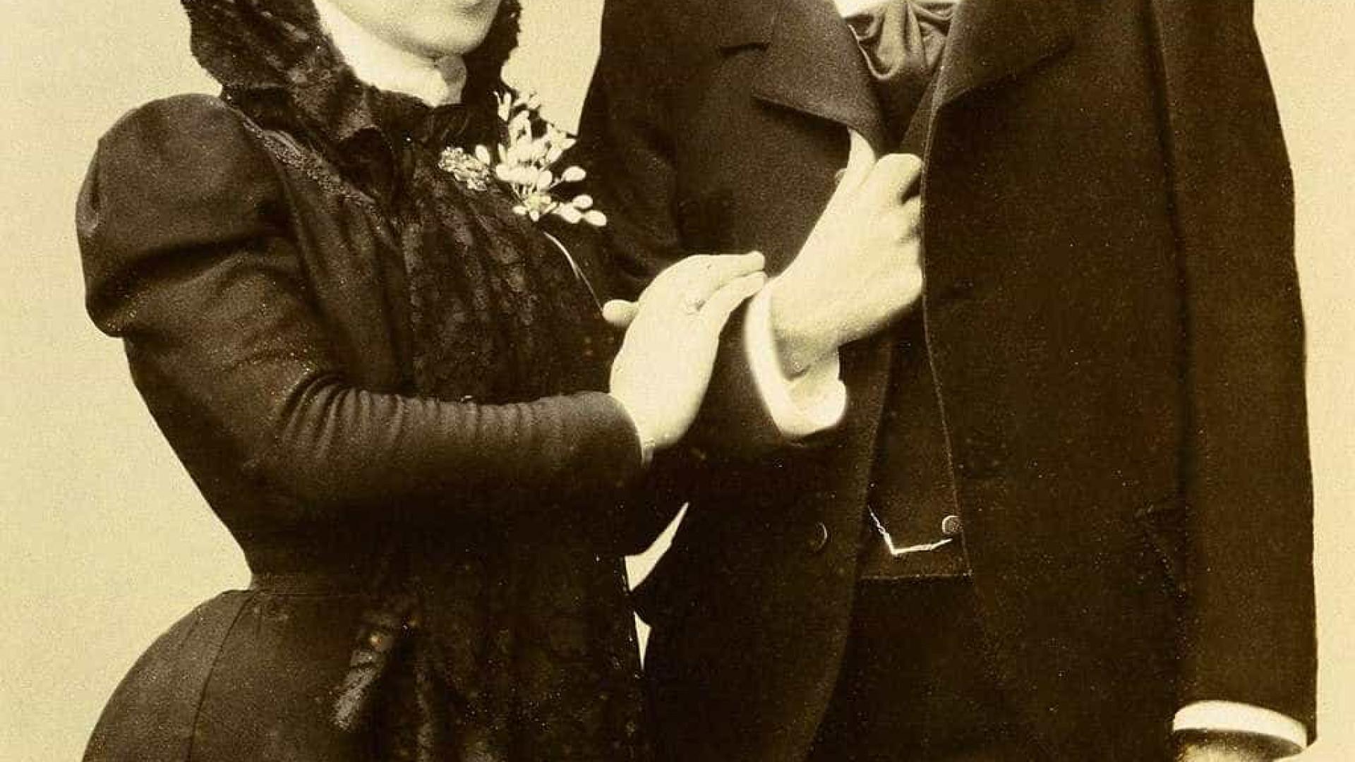 Estas duas mulheres casaram-se pela Igreja Católica em 1901