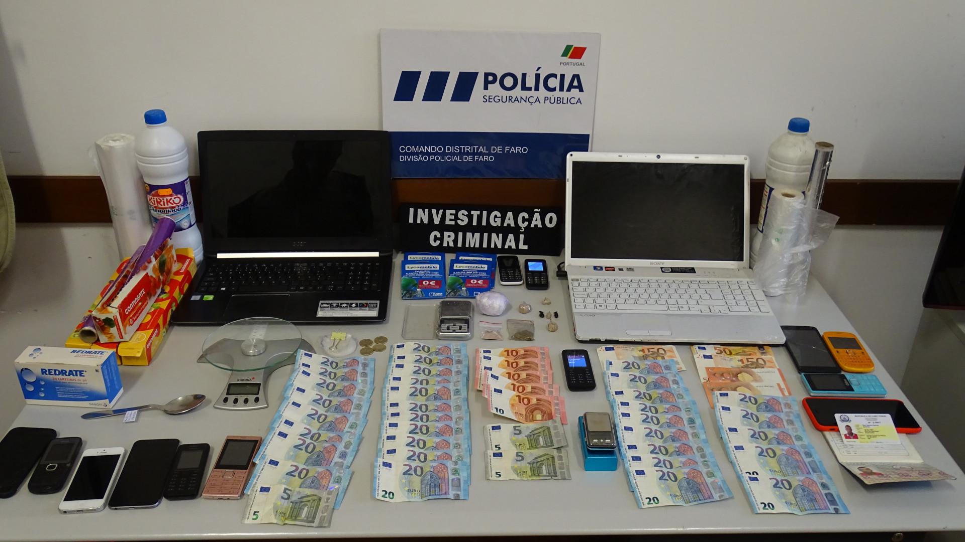 """Apreensão de droga em Faro foi """"um duro golpe na criminalidade"""""""