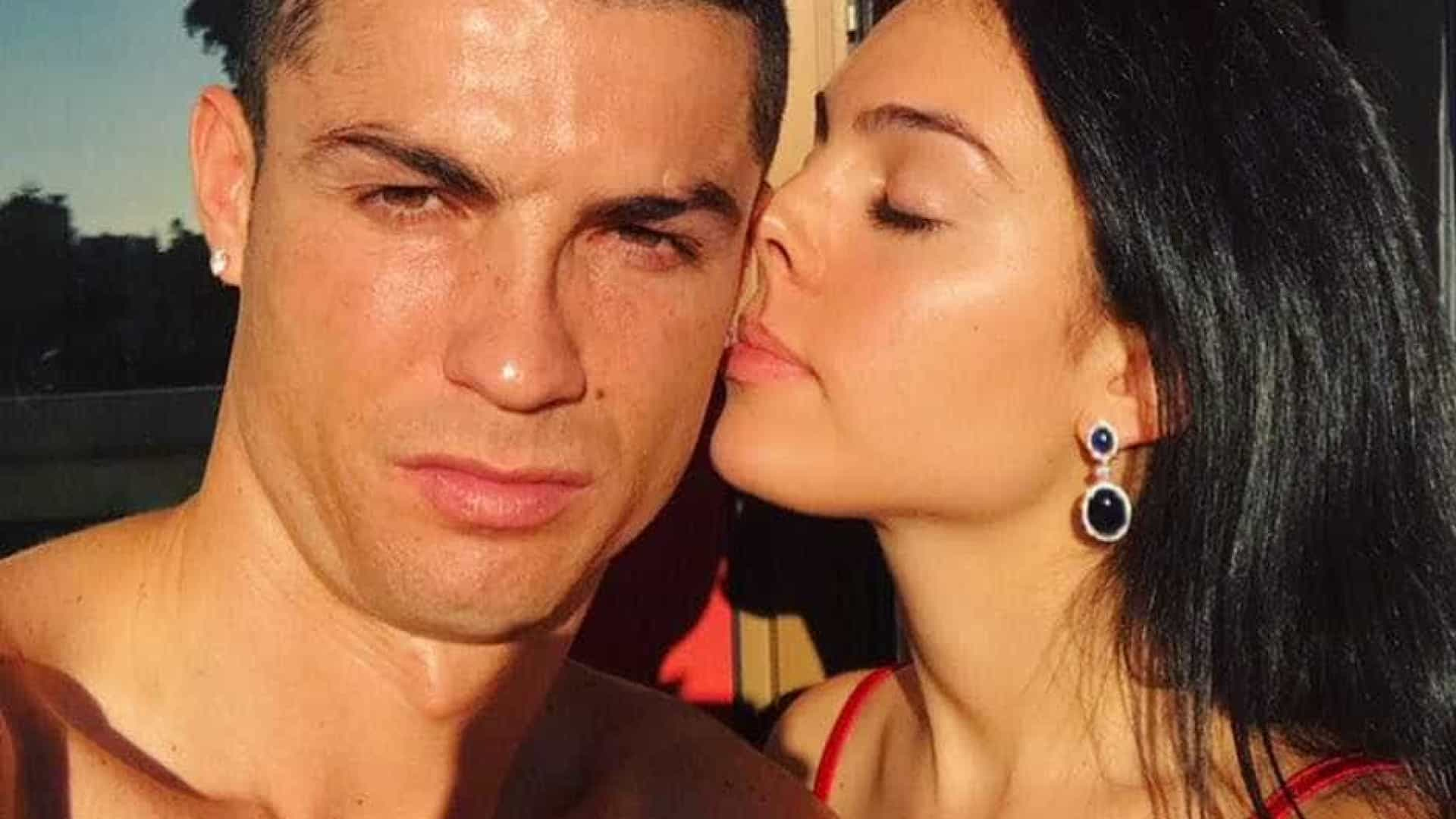 Ronaldo partilha foto ao lado do seu grande apoio em Itália: Georgina