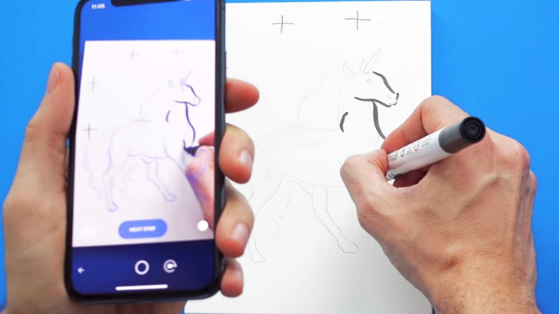Há esperança. Esta app de realidade aumentada vai ajudá-lo a desenhar