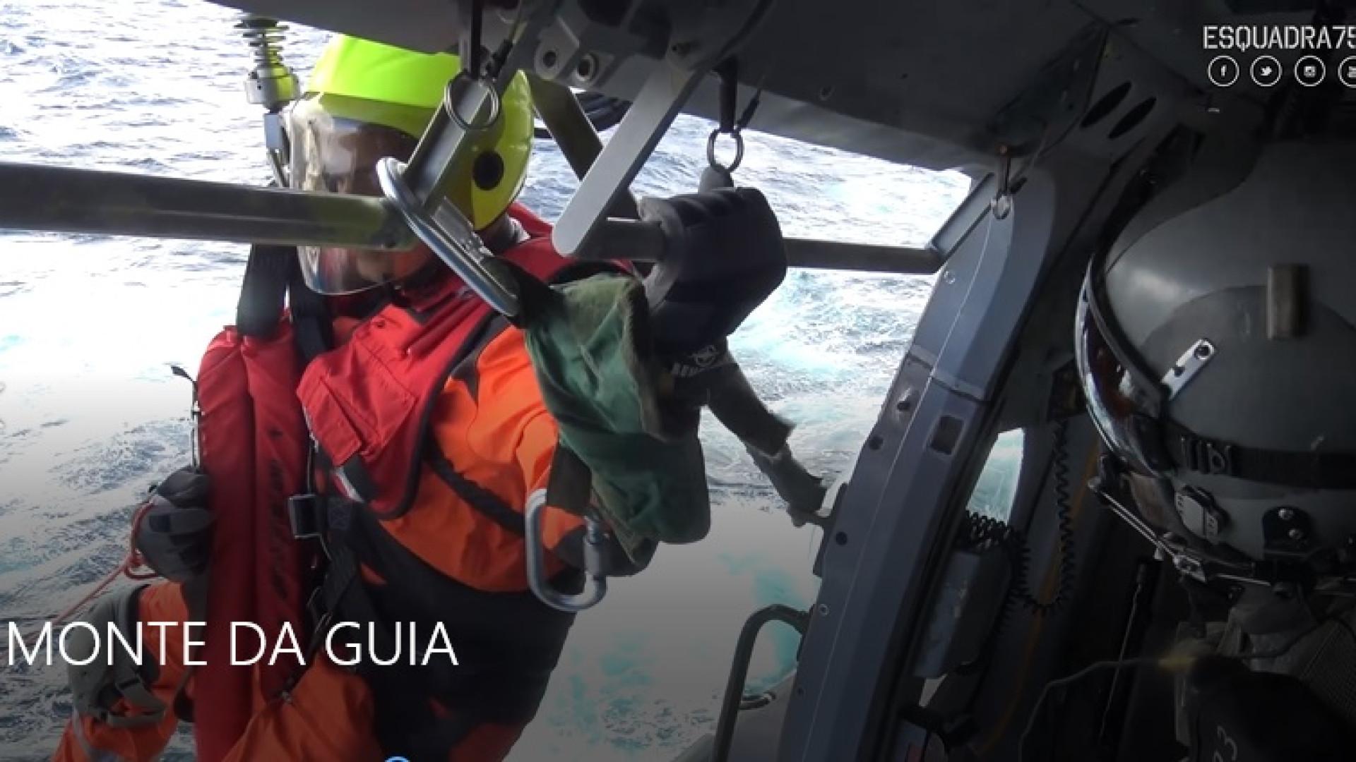 Imagens de um (difícil) salvamento da Força Aérea no Tejo