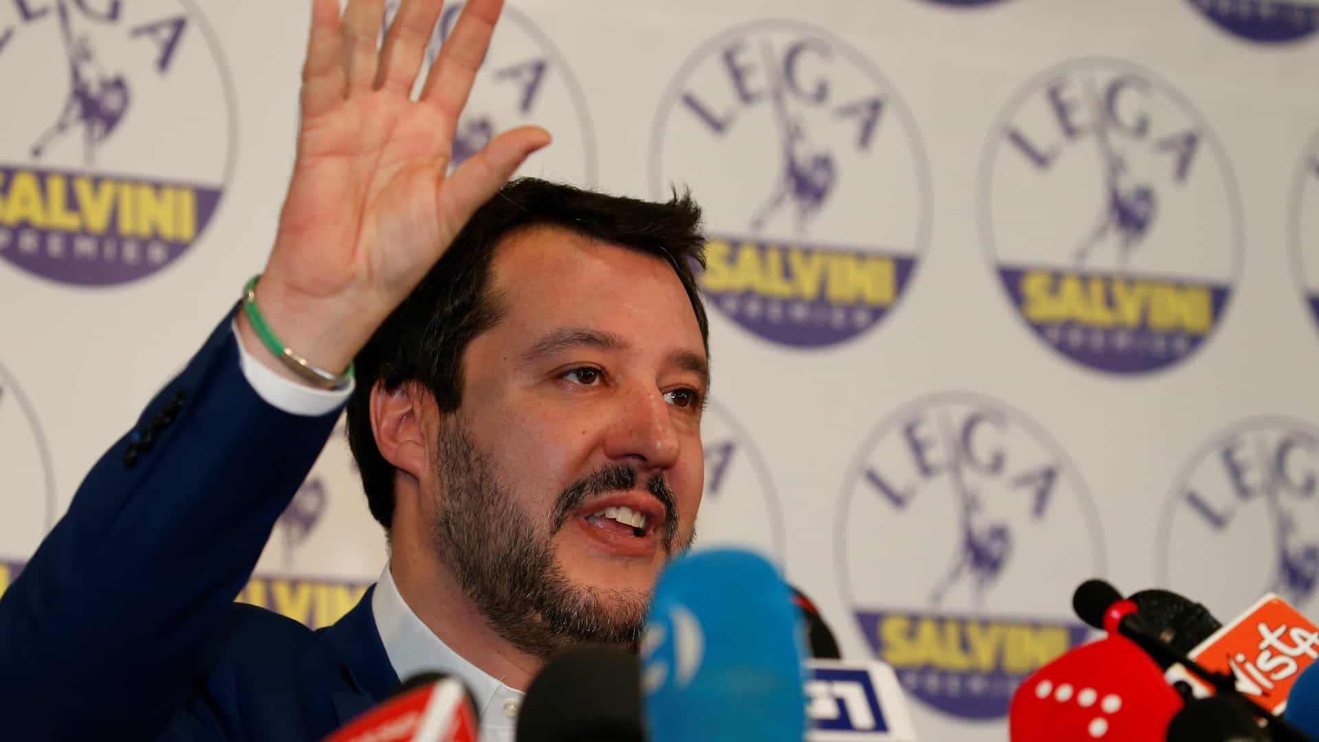 Líder da Liga exclui aliança de Governo com centro-esquerda em Itália
