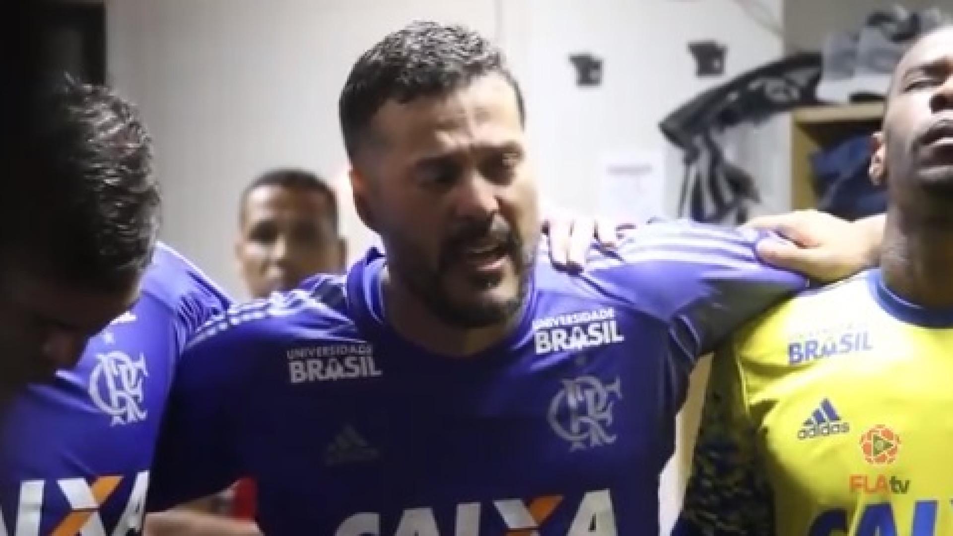 Júlio César em lágrimas no regresso ao Flamengo