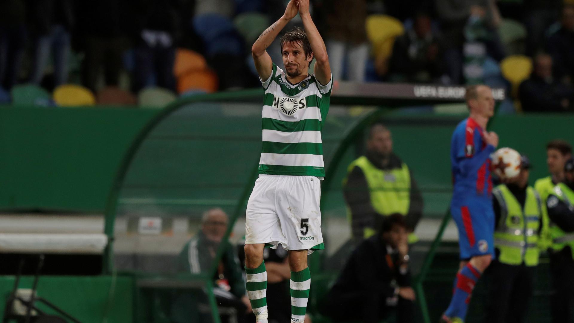 """Coentrão: """"Gostaria de ficar no Sporting até ao final da carreira"""""""